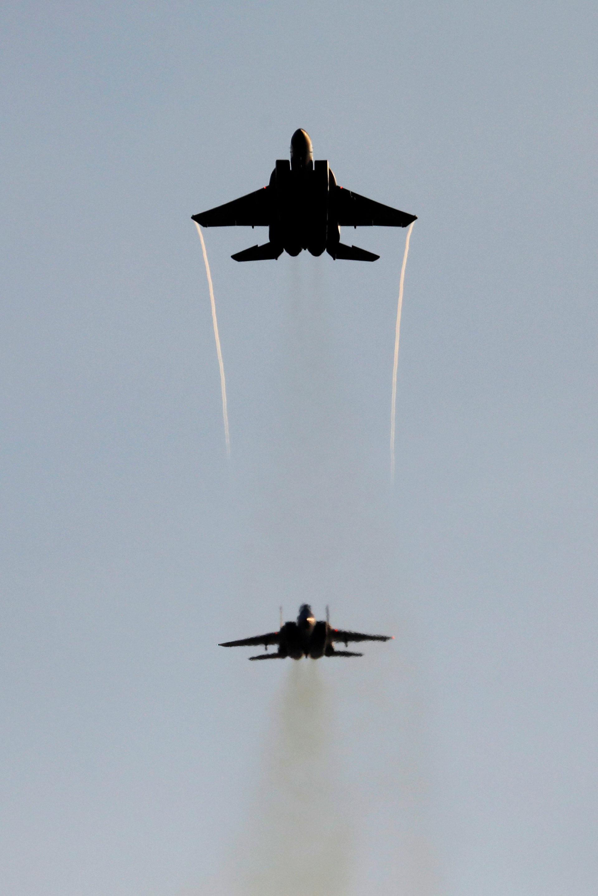 Los F-15 son, junto a los F-16, los aviones más usados por Israel en sus ataque sobre blancos iraníes en Siria (Reuters)