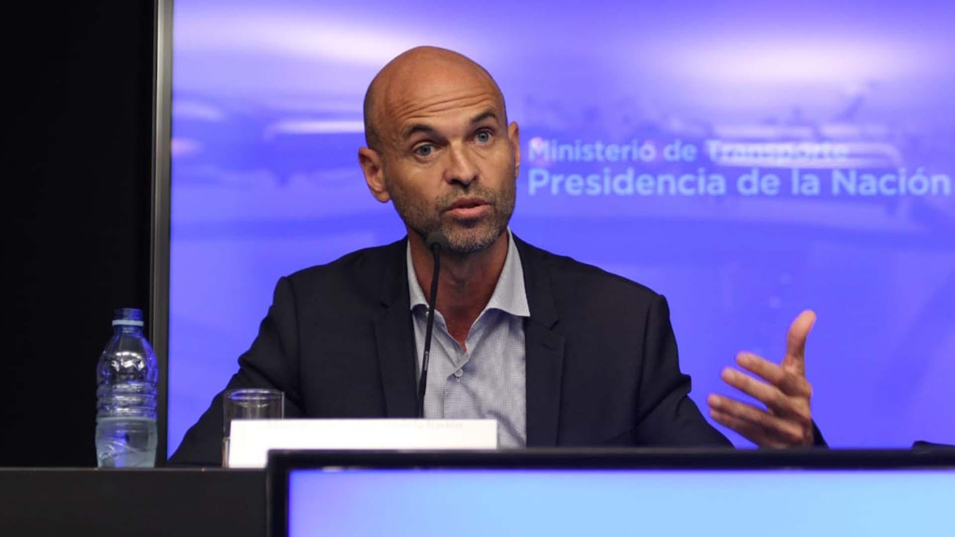 Guillermo Dietrich, este jueves en conferencia de prensa (Matías Baglietto)