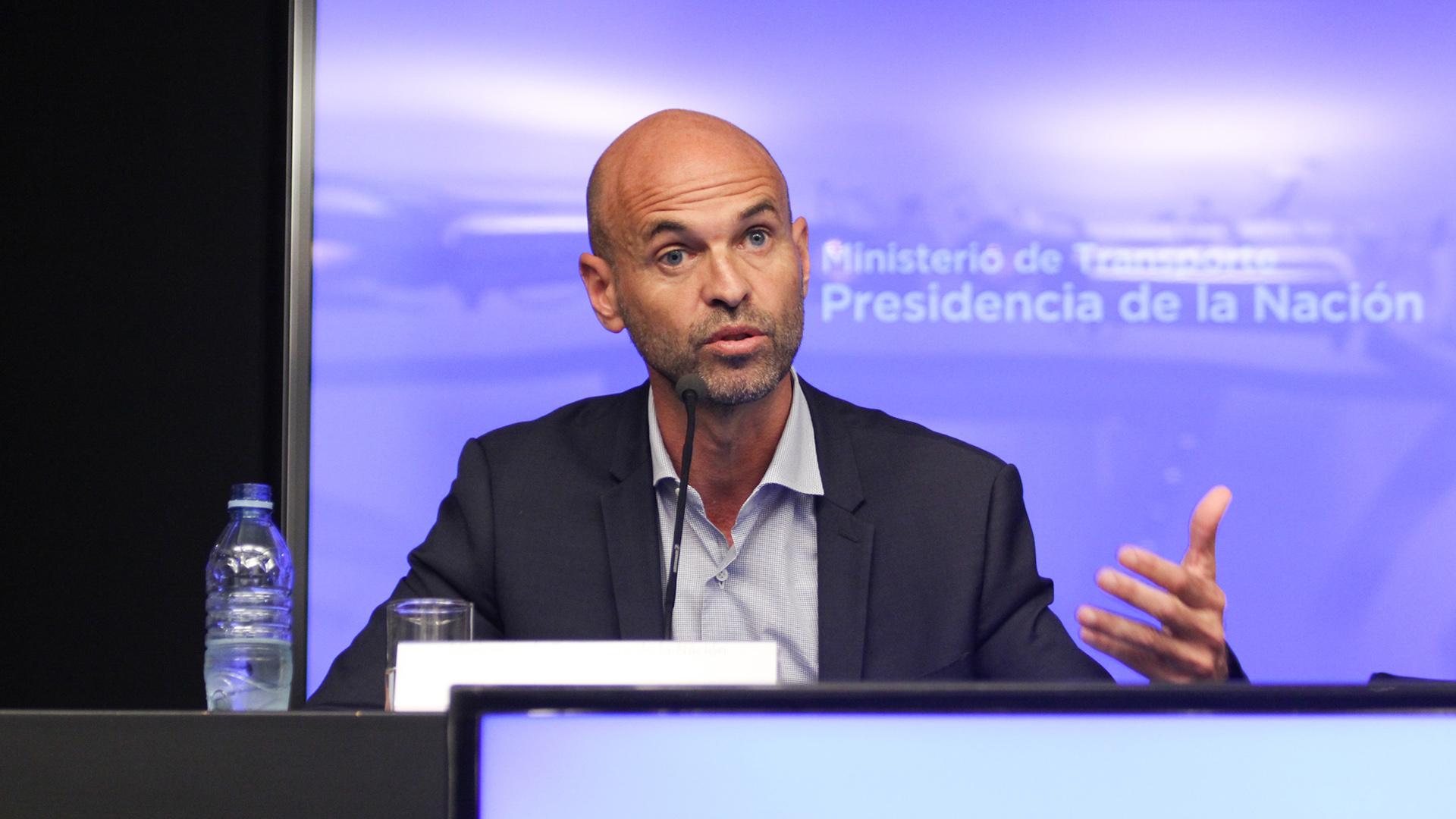 Guillermo Dietrich habla durante una conferencia de prensa (Foto: Matías Baglietto)