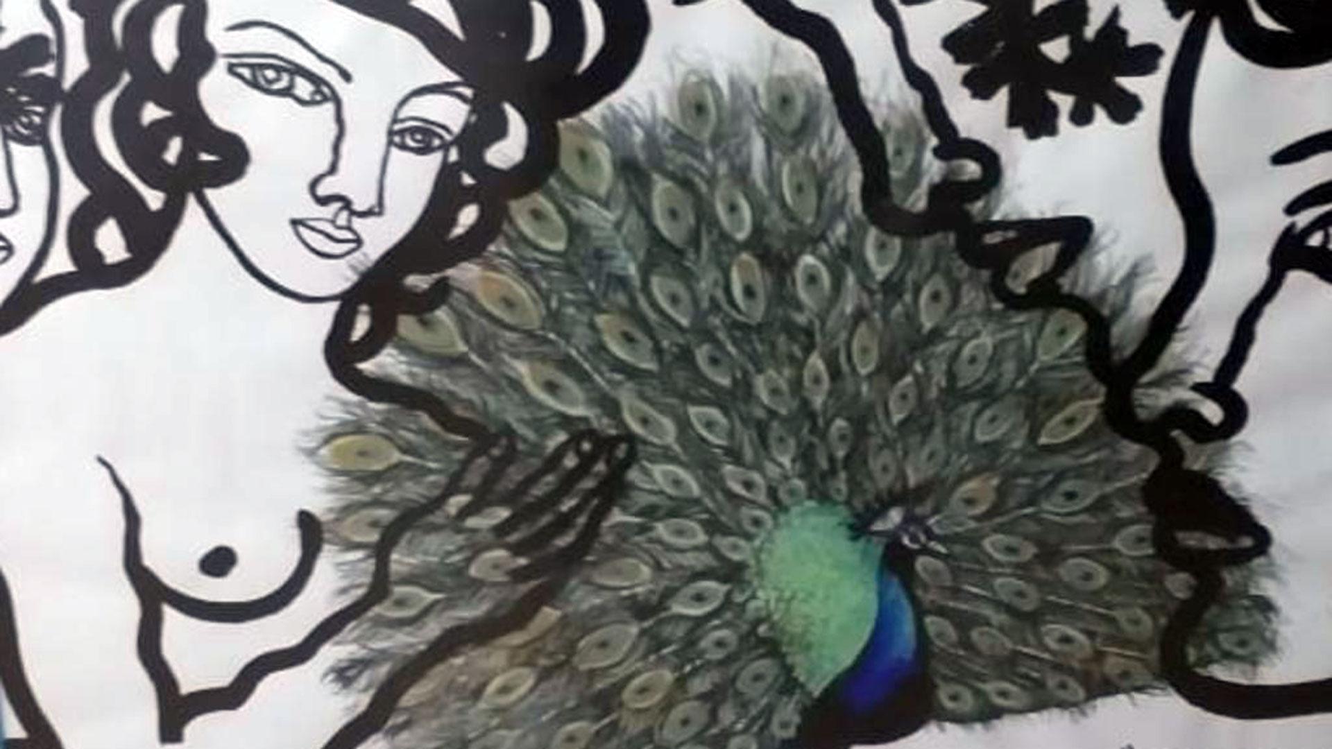 """""""Su elegancia quisiera"""", obra de la artista cubana Zaida el Río fechada en La Havana en 2013."""