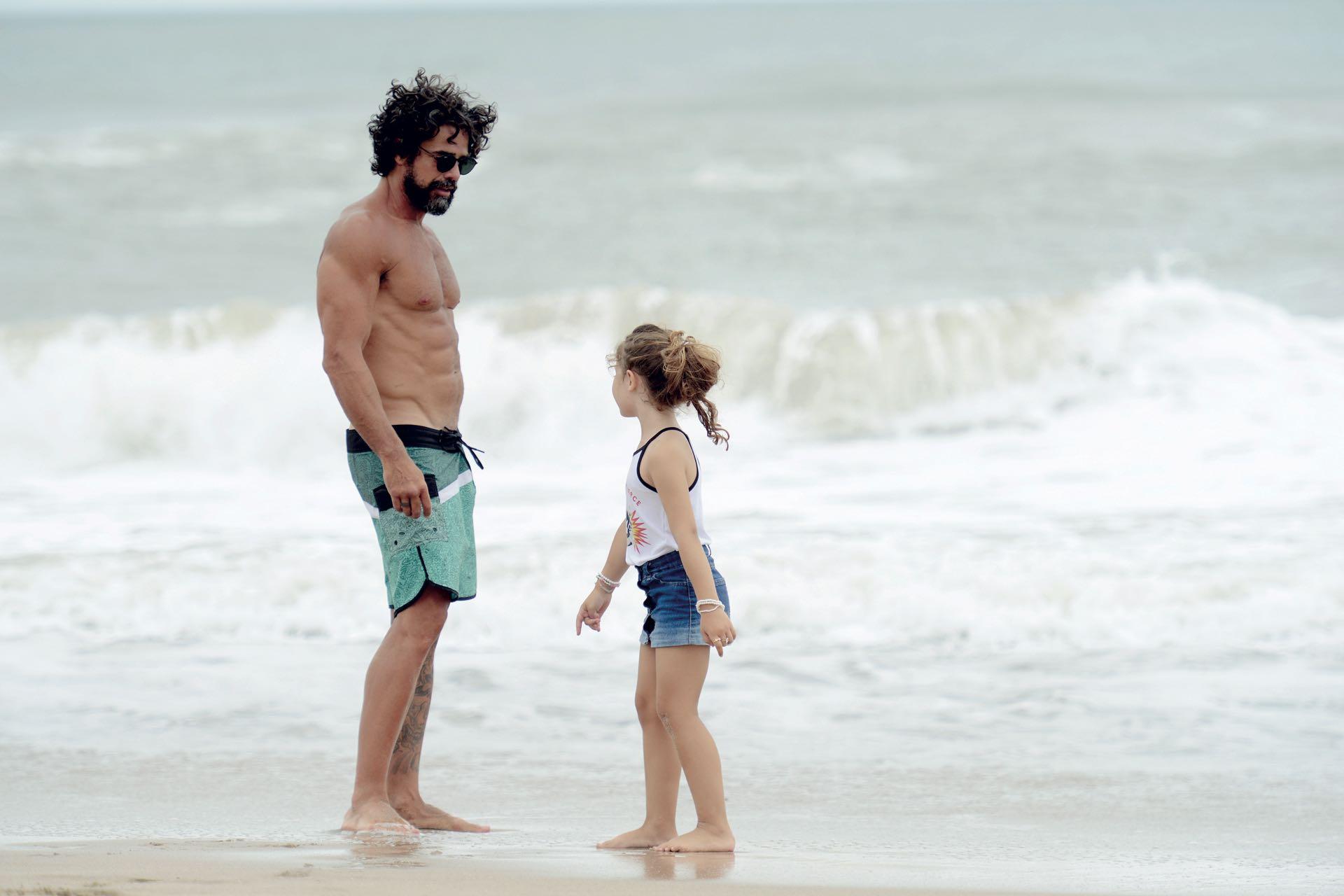 El actor con su hija, que nació en junio de 2013, dos años y medio antes de que los actores se casaran por Civil.