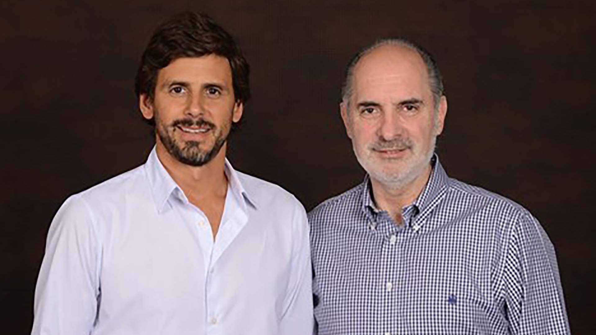 Dario Turovelzky junto a Guillermo Campanini