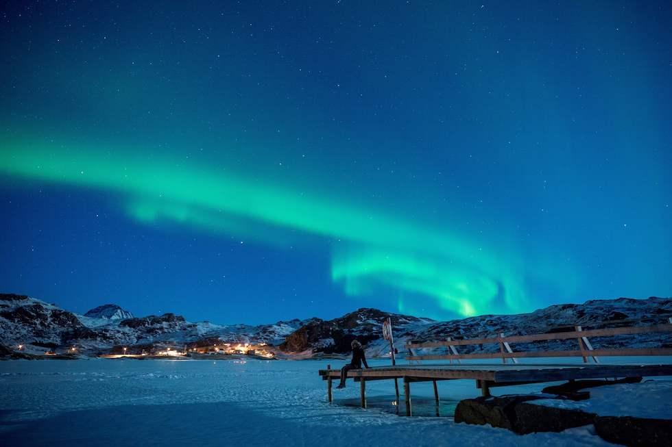Una aurora boreal en las islas Lofoten, en Noruega, el 3 de marzo (Olivier Morin/AFP/Getty Images)