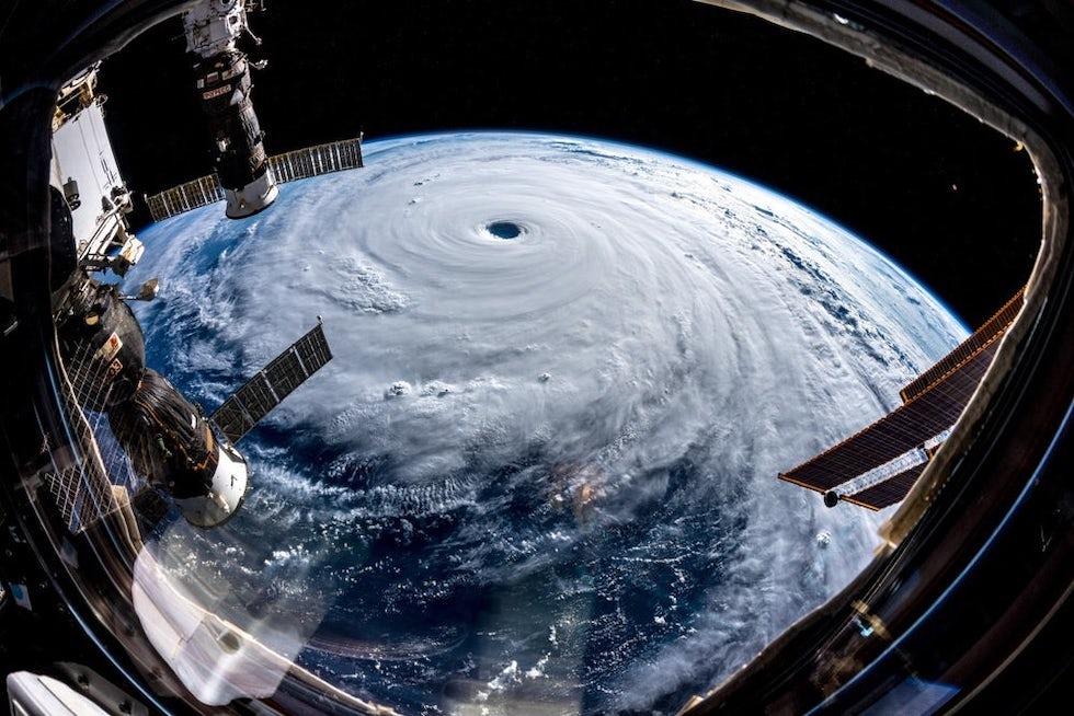 El tifón Trami visto desde la Estación Espacial Internacional en septiembre (ESA/NASA-A.Gerst)