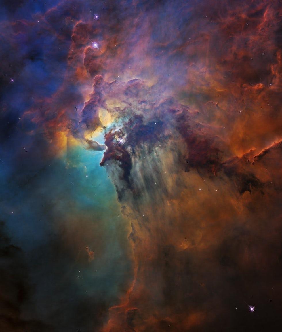 Le Nebulosa de la Laguna fotografiada por Hubble (NASA/ESA/STScl)