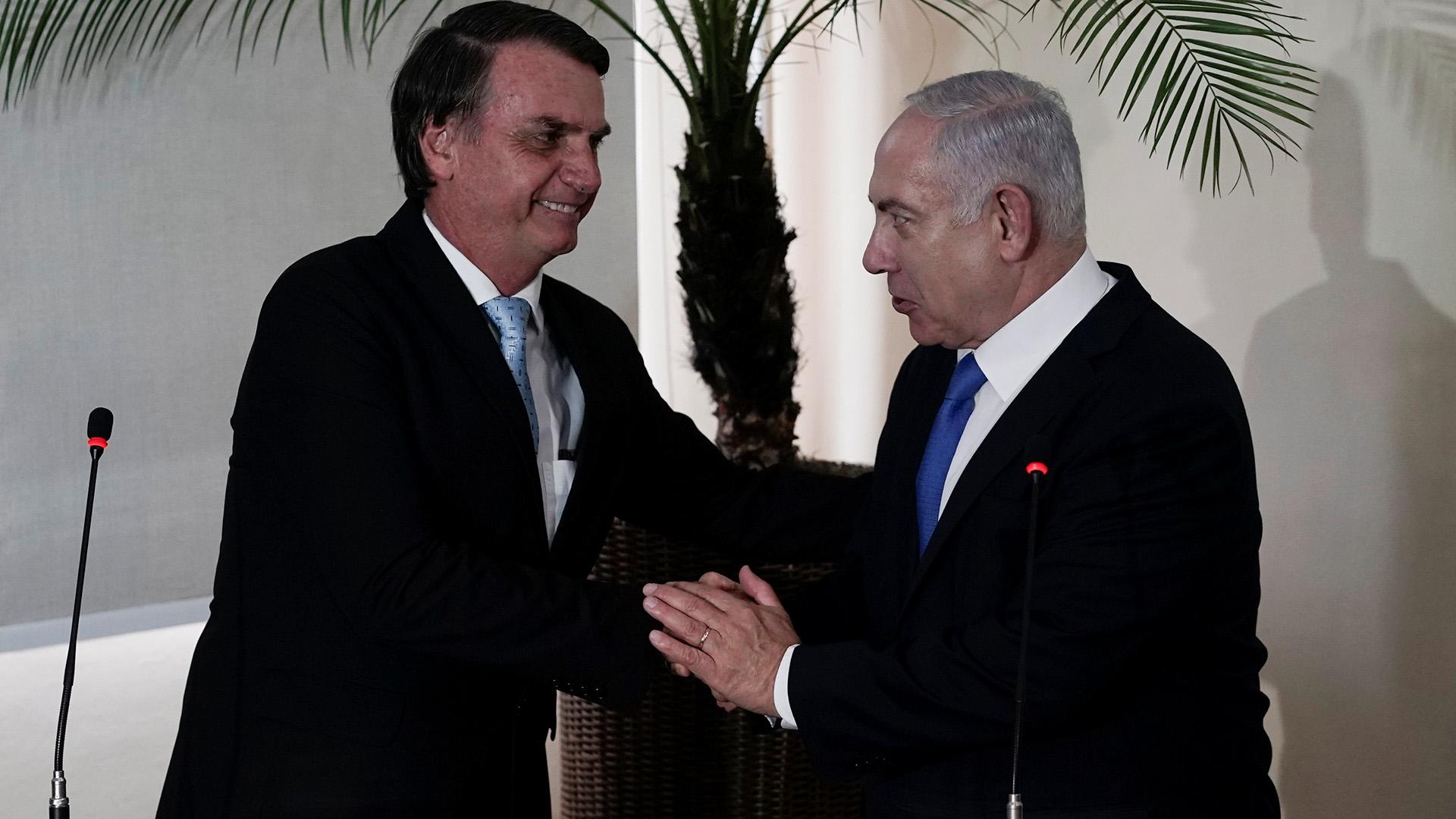 Benjamin Netanyahu y Jair Bolsonaro(Leo Correa via REUTERS)