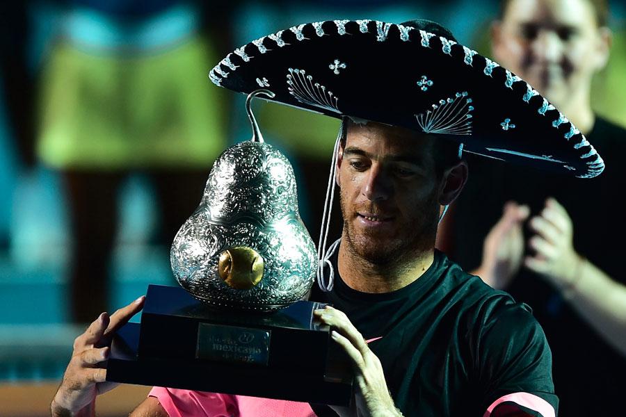 Juan Martín del Potro se llevó el Abierto Mexicano de Tenis en 2018 (Foto: AFP)