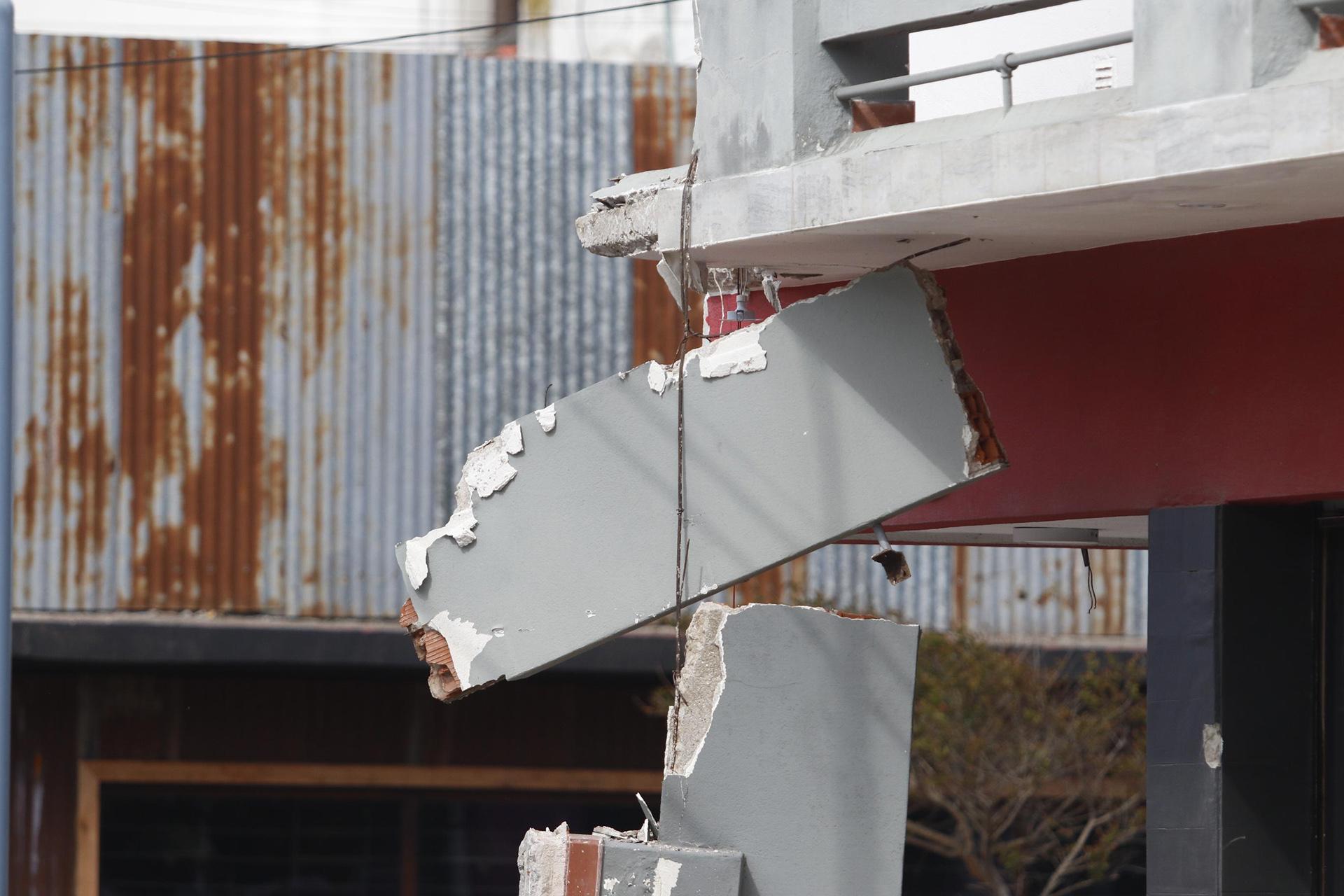 Aún se desconoce el motivo por el cual se derrumbaron los balcones