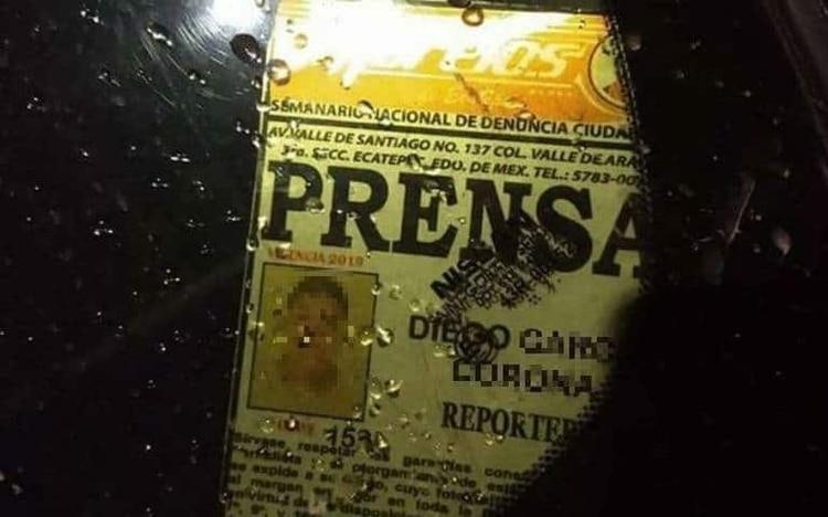 El cuerpo de Diego García Corona pudo ser identificado gracias a una credencial (Foto: Redes sociales)