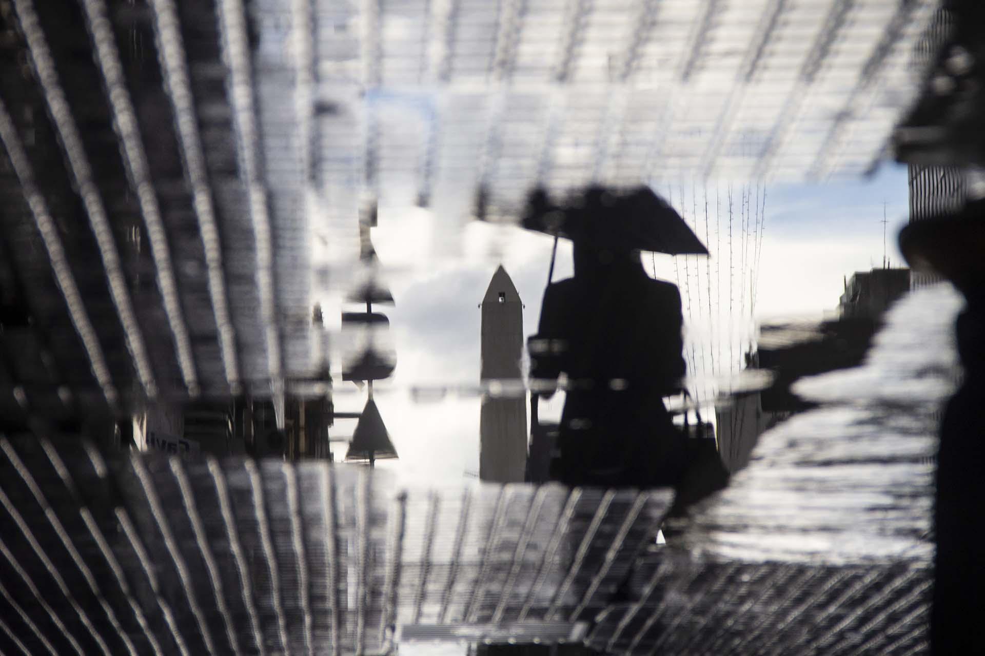 Día de lluvia en el centro porteño (Matías Baglietto)