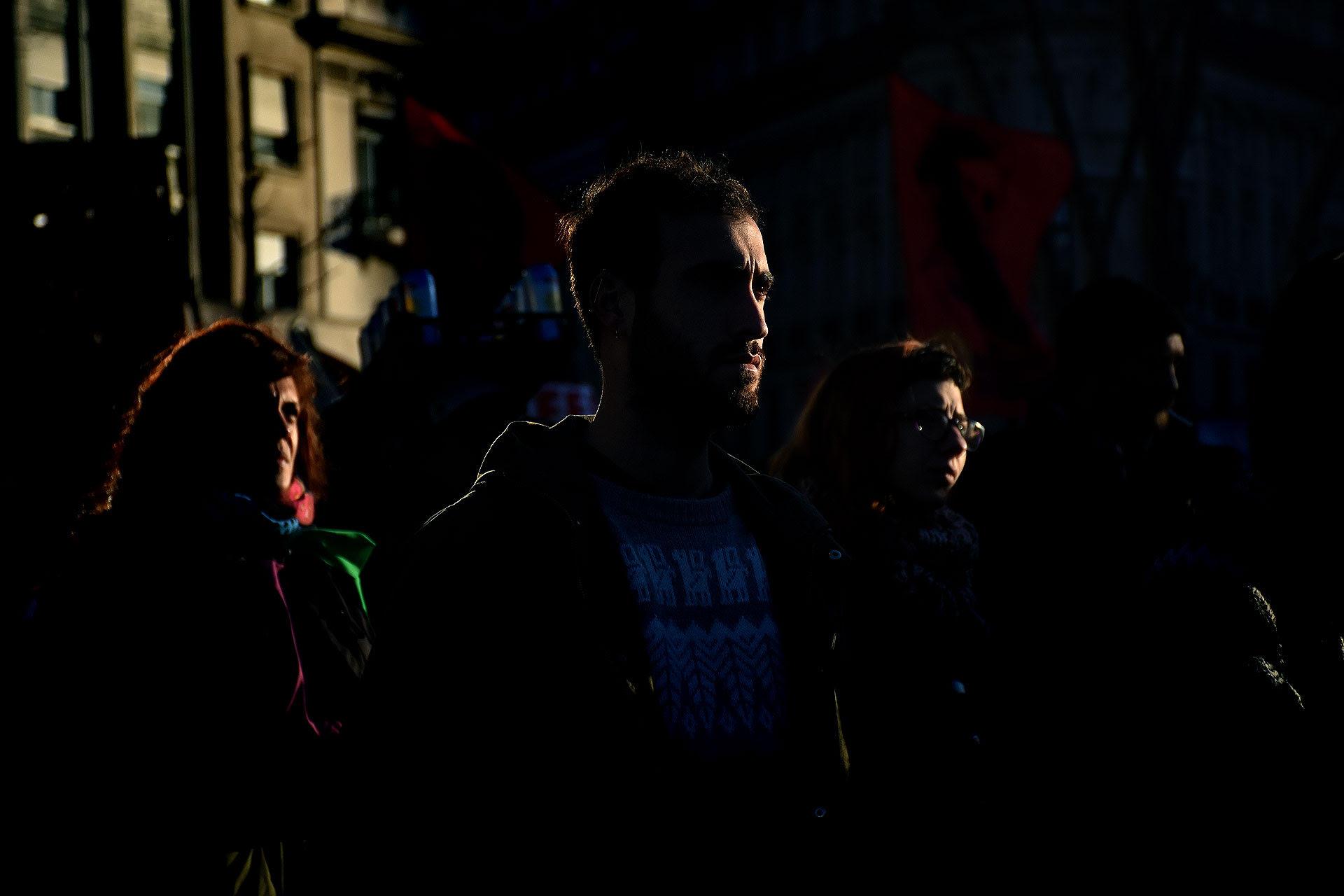 Movilización a Plaza de Mayo a un año de la desaparición de Santiago Maldonado (Nicolás Stulberg)