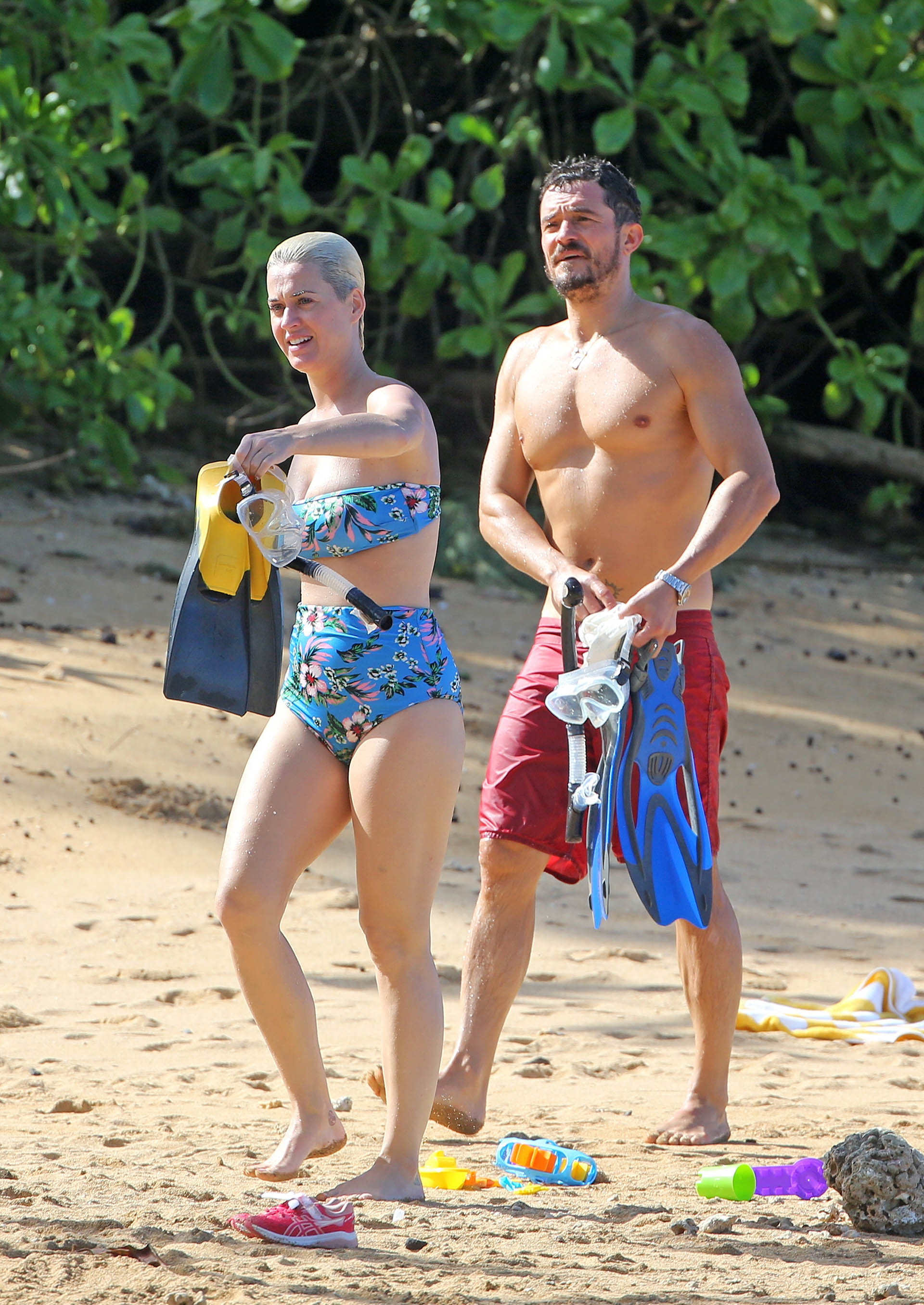 Katy y Orlando en Hawaii (Splash News/The Grosby Group)