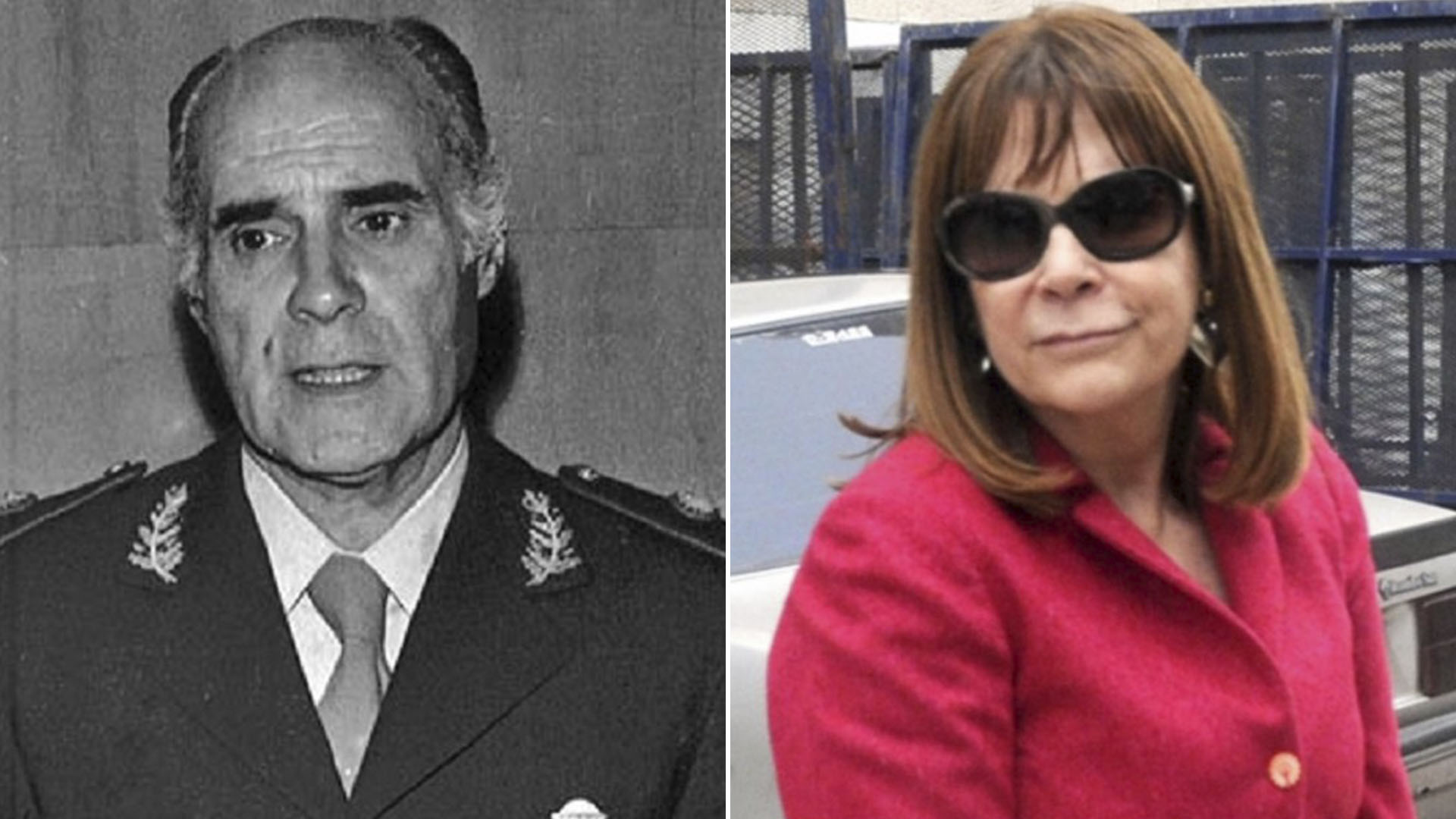 El General Ramón Camps y Lidia Papaleo