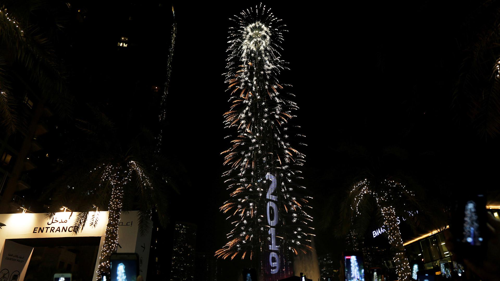 Las celebraciones en Dubai, Emiratos Árabes Unidos (Reuters)