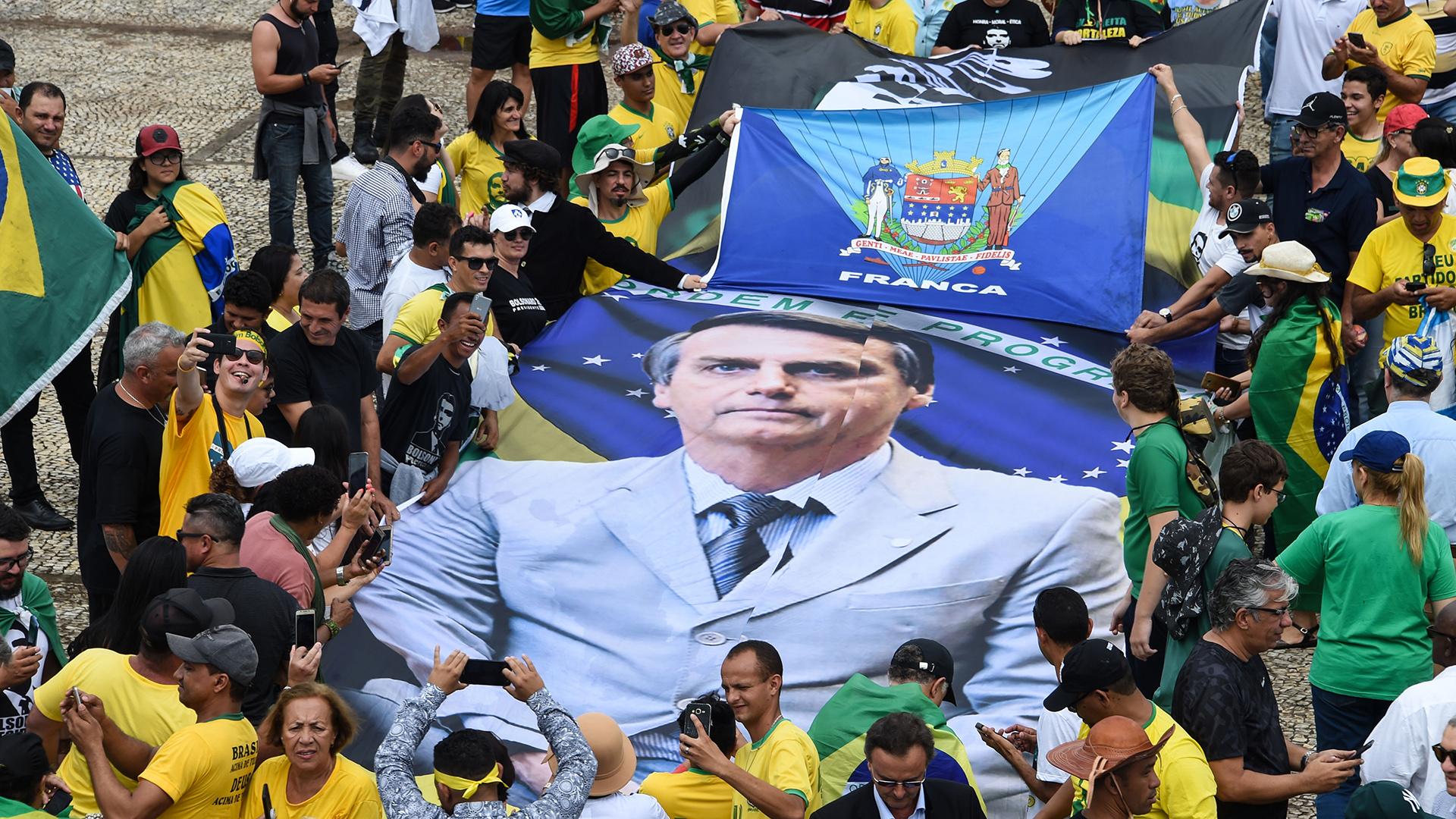 Miles de simpatizantes de Jair Bolsonaro se reunieron en la Plaza de los Tres Poderes, en Brasilia(EVARISTO SA / AFP)