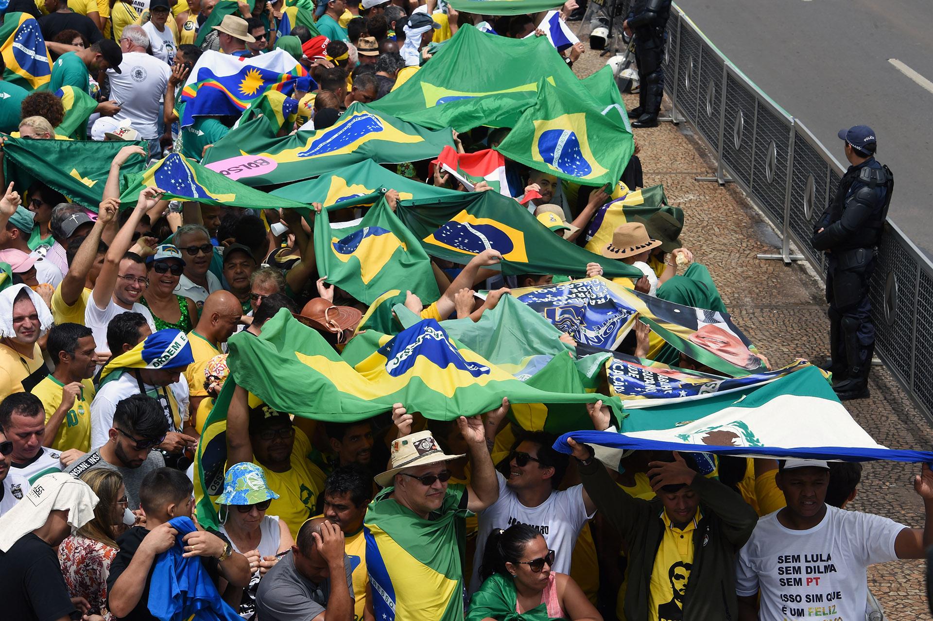 El acto de asunción está custodiado por un gigantesco operativo de seguridad (EVARISTO SA / AFP)