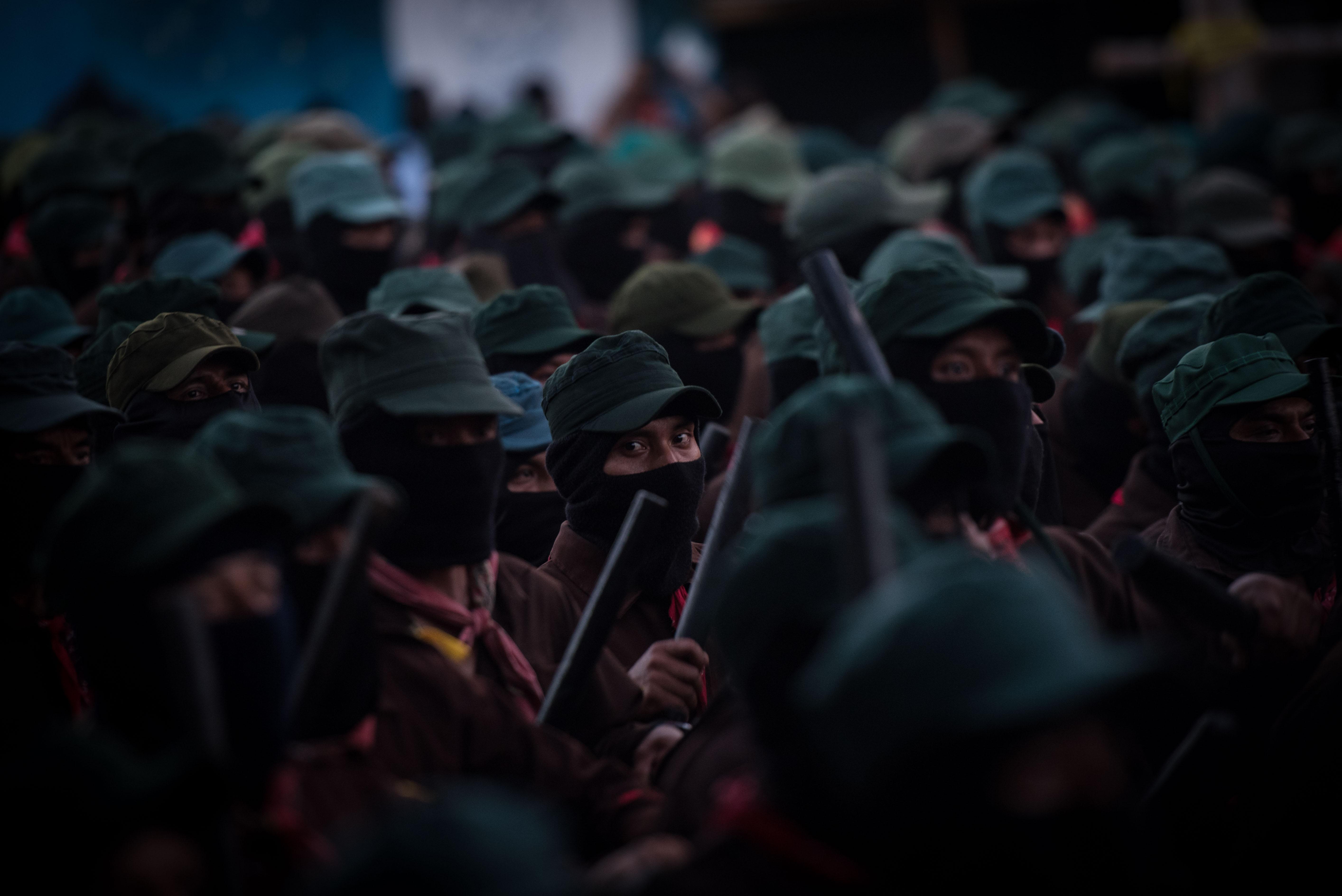 El grupo insurgente prepara la resistencia contra proyectos del gobierno federal (Foto: Cuartoscuro)