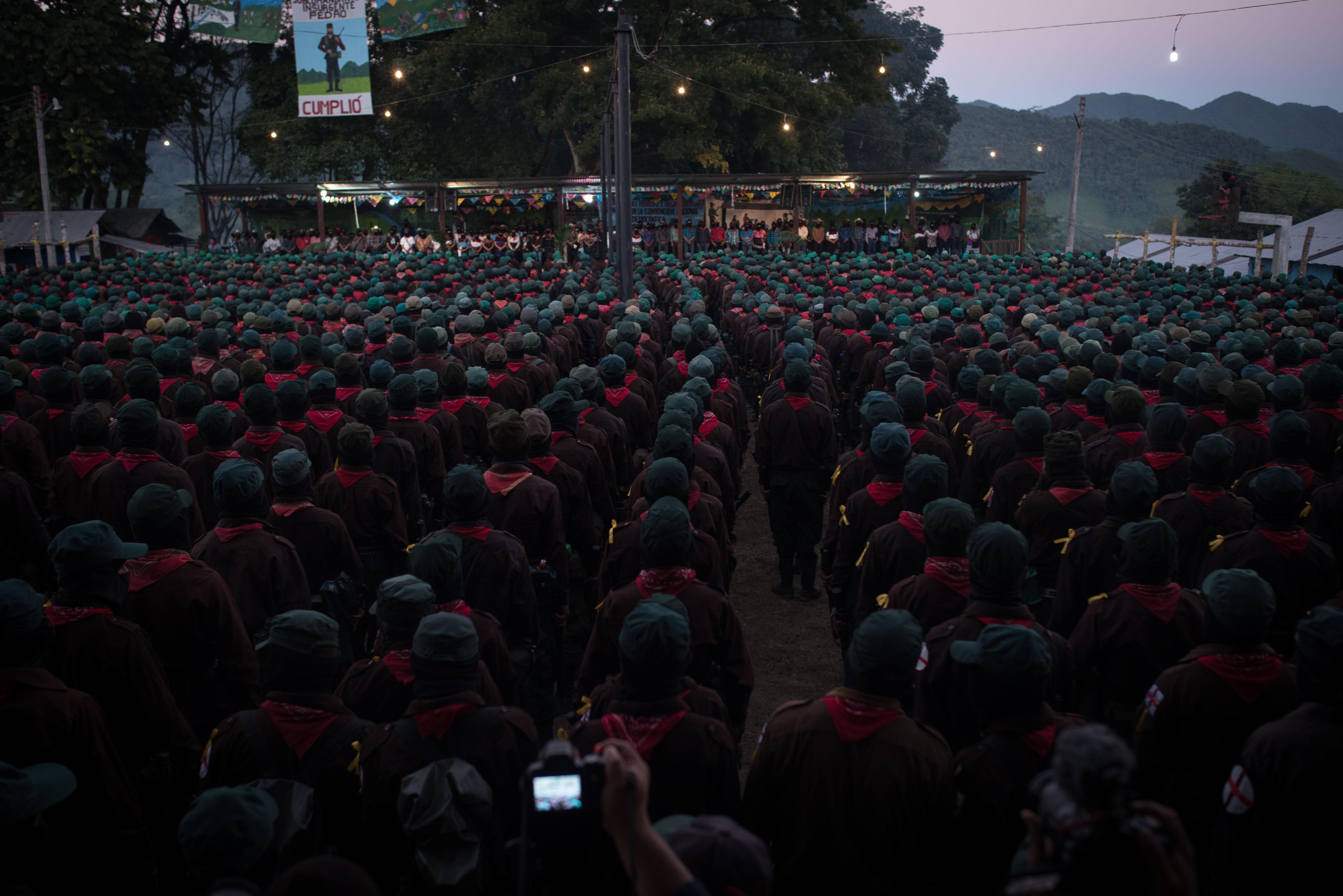 Desde el domingo las bases zapatistas se reúnen en La Realidad, Chiapas (Foto: Cuartoscuro)