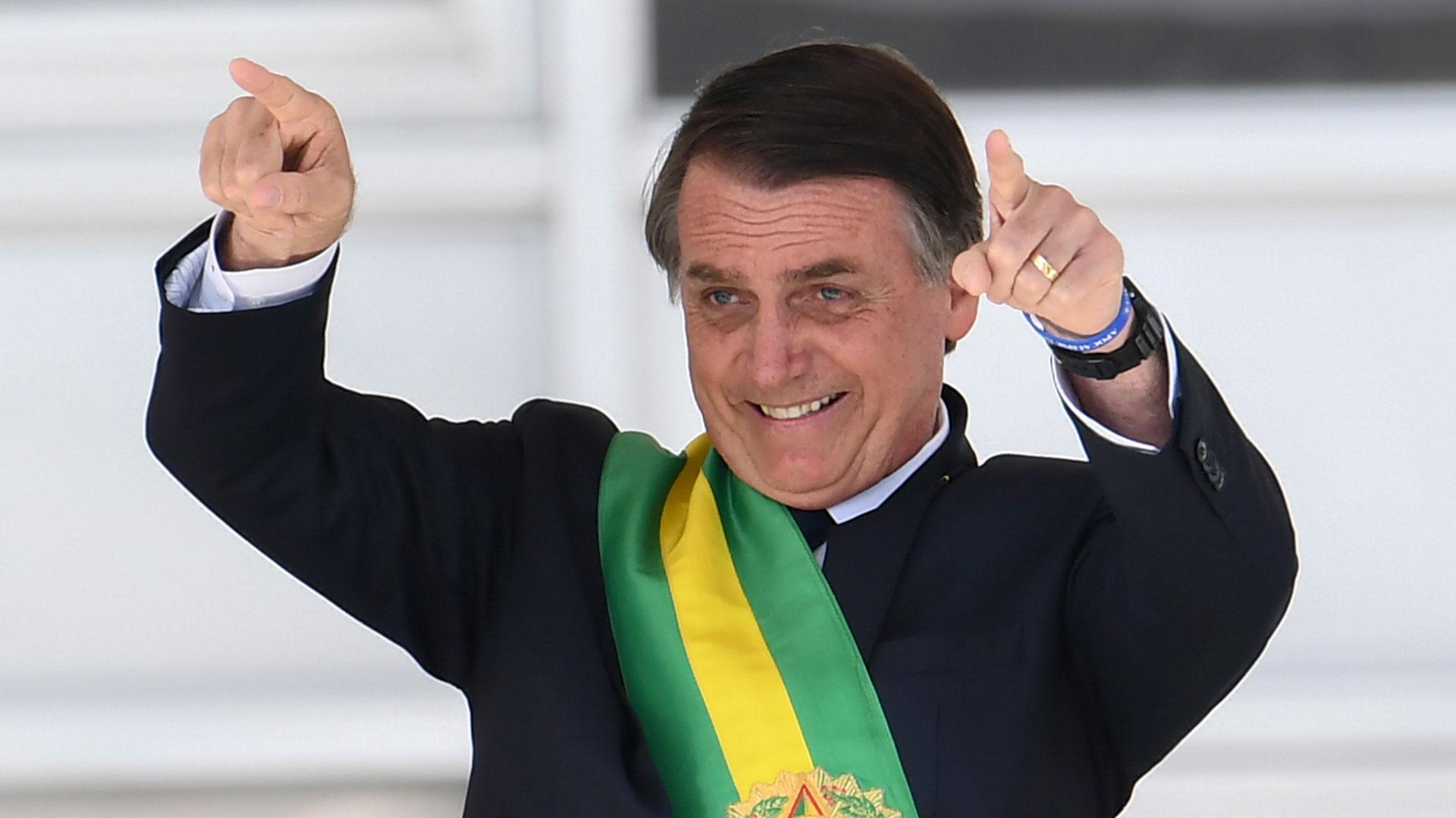 Jair Bolsonaro, en su asunción como presidente de Brasil, el 1 de enero de 20219(AFP)