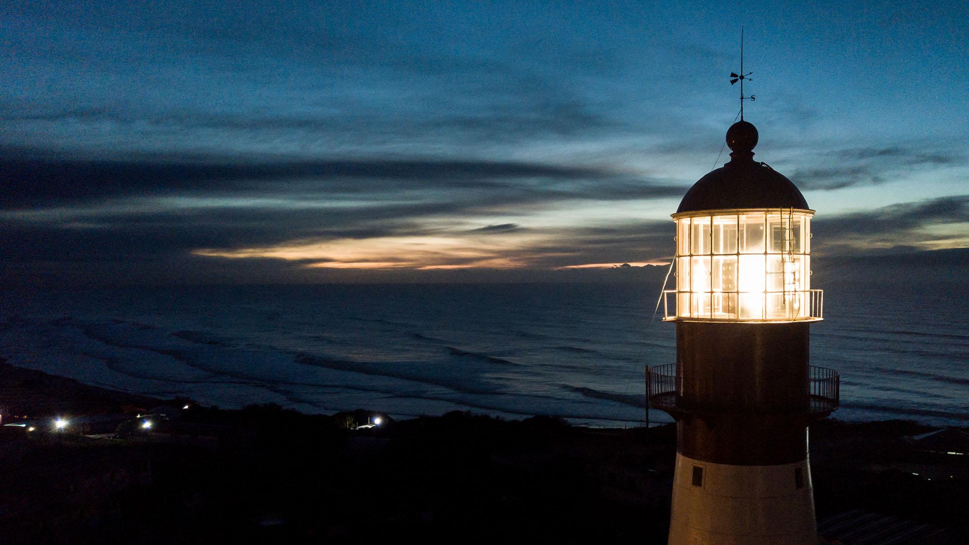 El faro marplatense está ubicado en Punta Mogotes y fue inaugurado el 5 de agosto de 1891