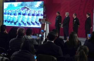 Durante la conferencia de prensa matutina presentaron el video que acompaña la convocatoria. (Foto: Presidencia de México)