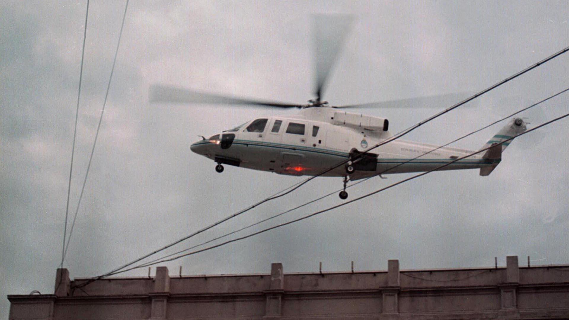 20 de diciembre de 2001: el recordado helicóptero que transportó a De la Rúa desde el techo de Casa Rosada
