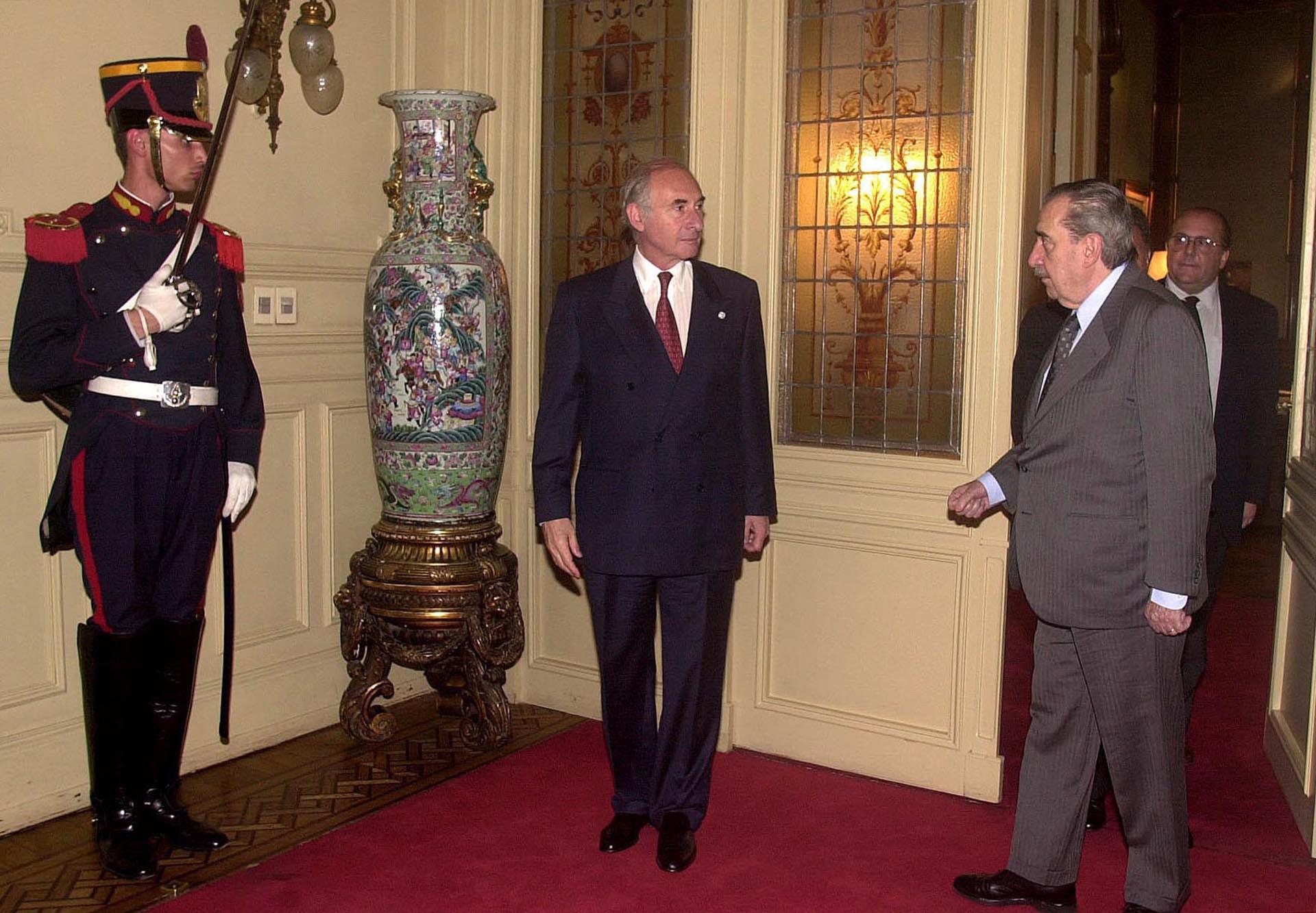 El presidente Fernando de la Rua y Alfonsín