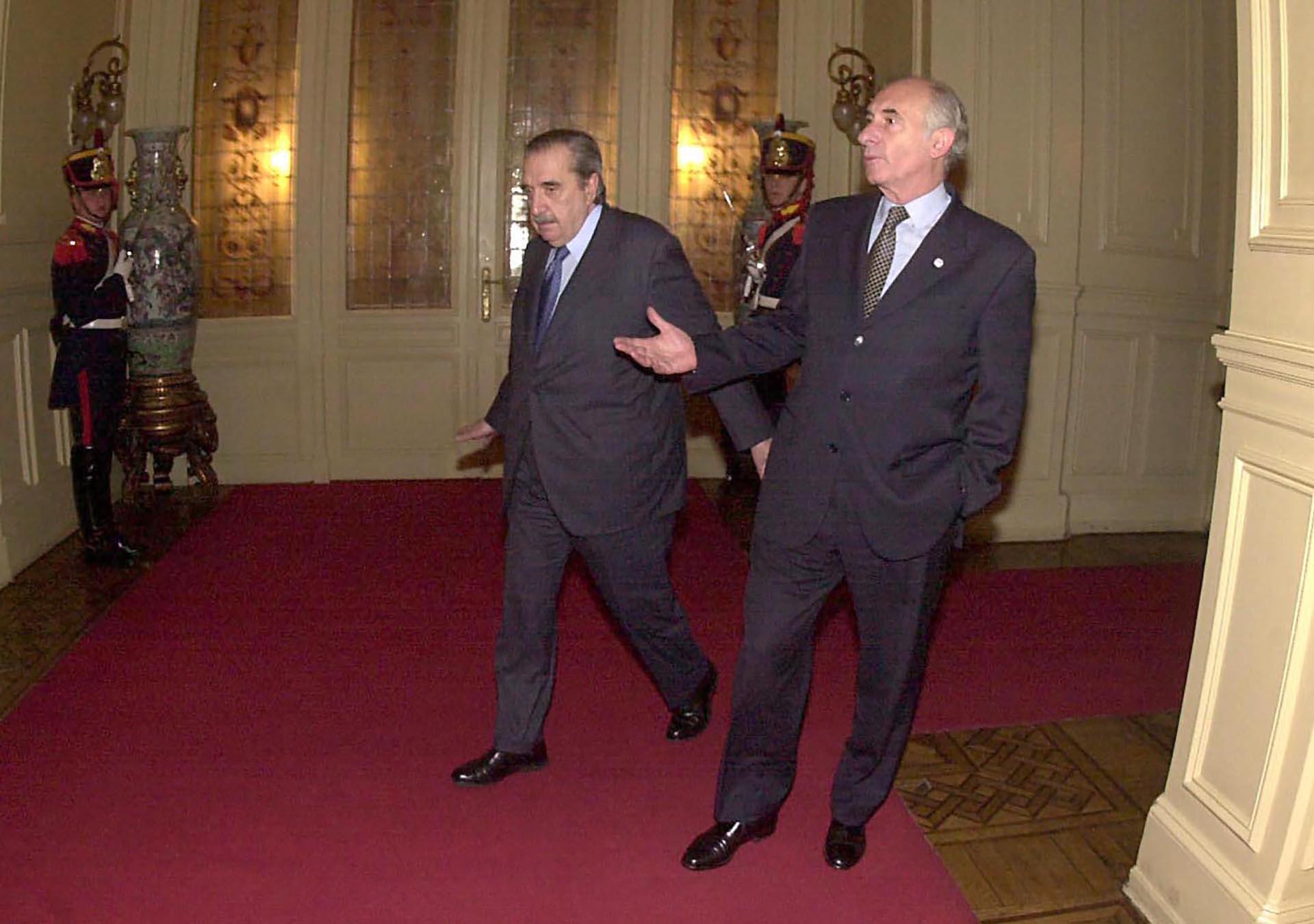 En Casa Rosada, junto con ex presidente Raúl Alfonsín. Son los últimos dos mandatarios radicales que gobernaron el país en tiempos de democracia