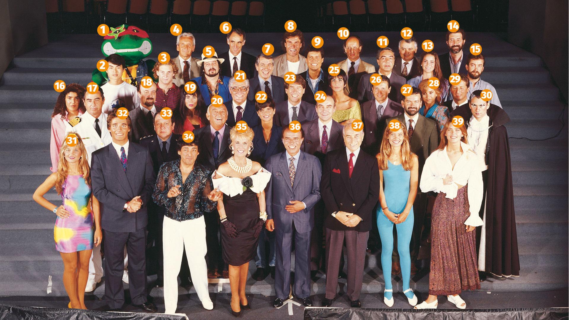 La tapa de Los Personajes del Año de GENTE en 1991
