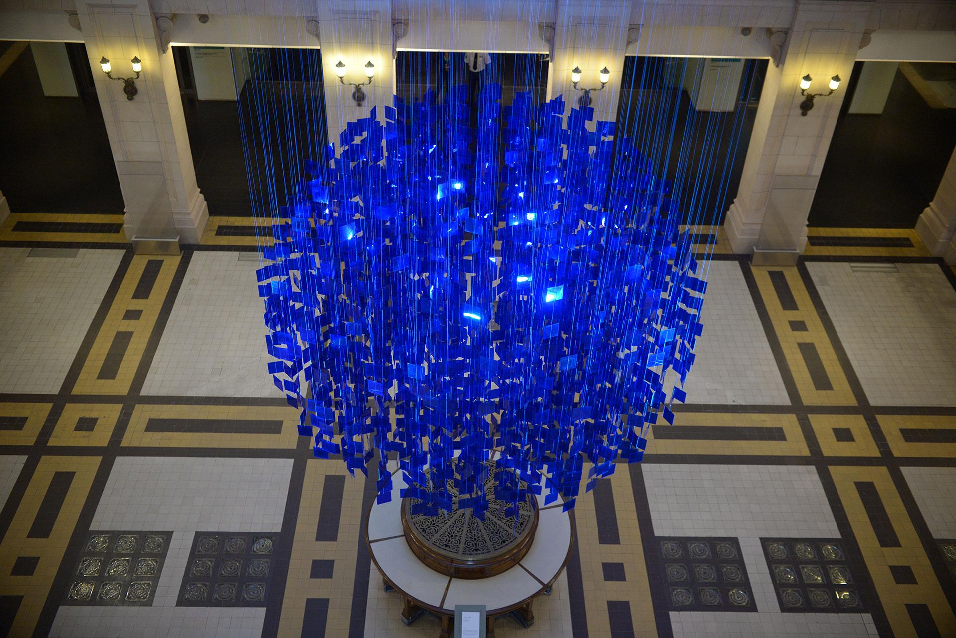 """La """"Esfera Azul"""" de Julio Le Parc. Foto: cortesía CCK"""