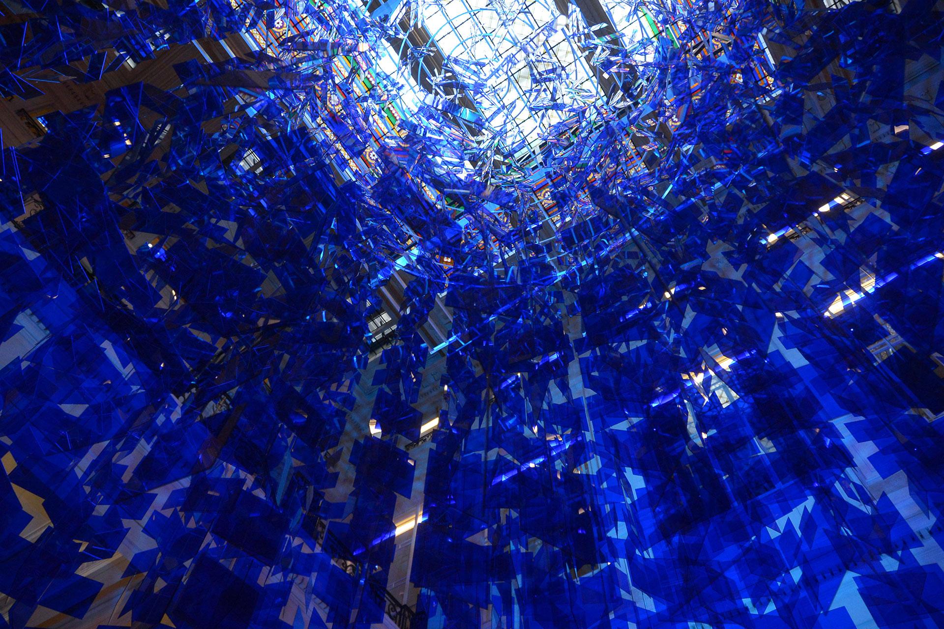 """Detalle de la """"Esfera Azul"""" de Le Parc. Foto: Gentileza CCK"""