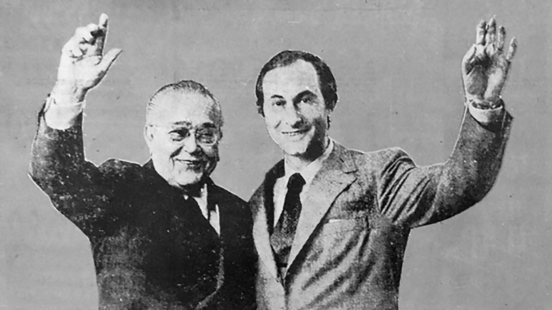 Balbin eligió a De la Rúa como candidato a vicepresidente en las elecciones presidenciales de septiembre de 1973: el binomio logró el 24,3% de los votos