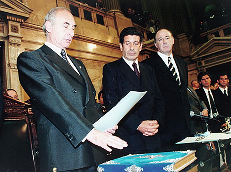 El momento de la jura como Presidente de la Nación