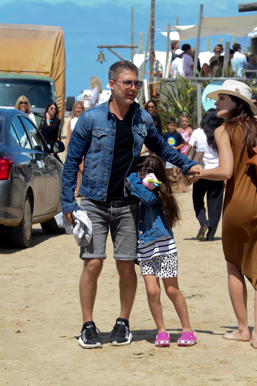 """Una costa llena de artistas: el gerente de Pol-ka se encontró con Bárbara Lombardo, con quien trabajó en la serie """"Condicionados"""", en 2012"""