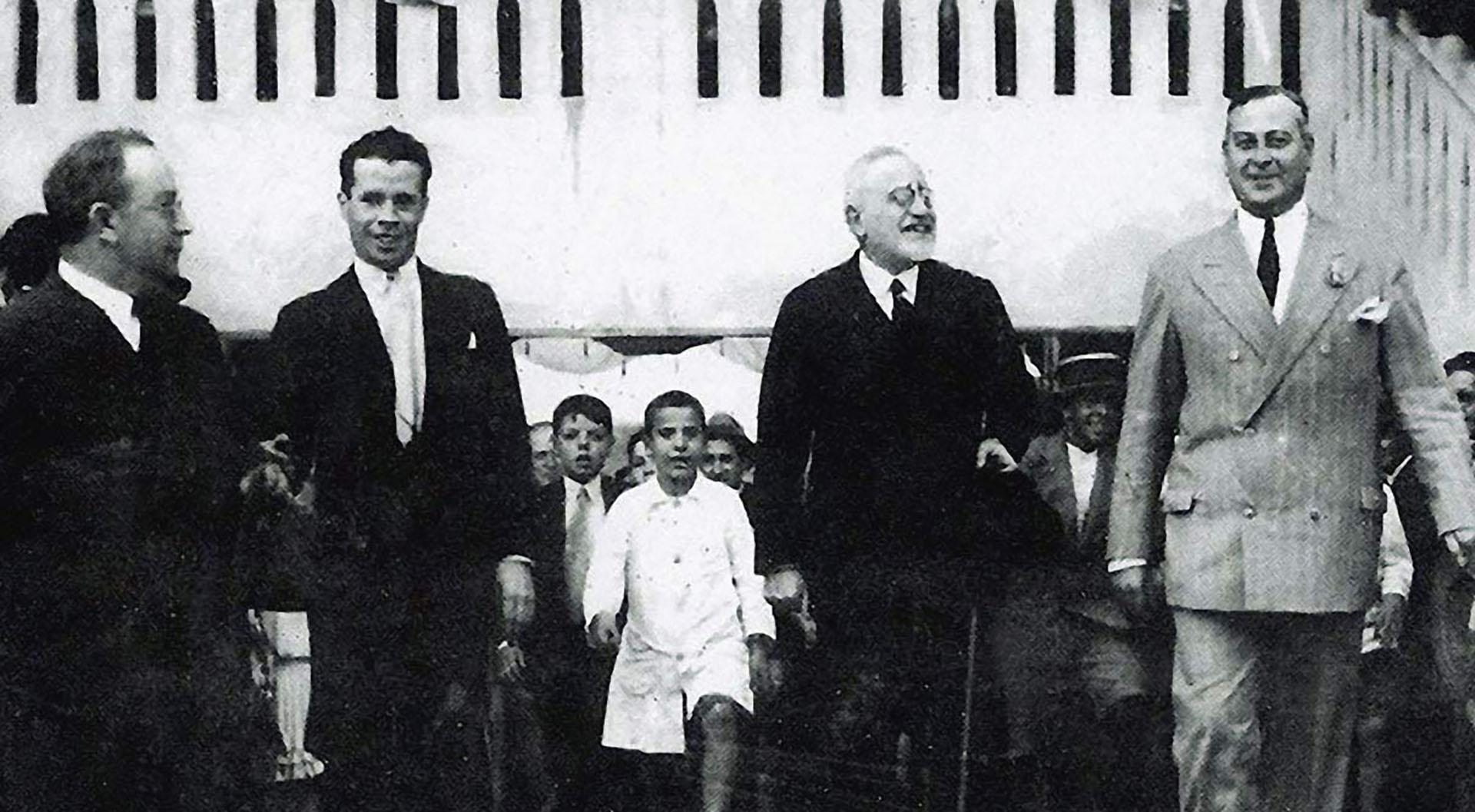 Lisandro de la Torre, en la inauguración del estadio de Newell's Old Boys