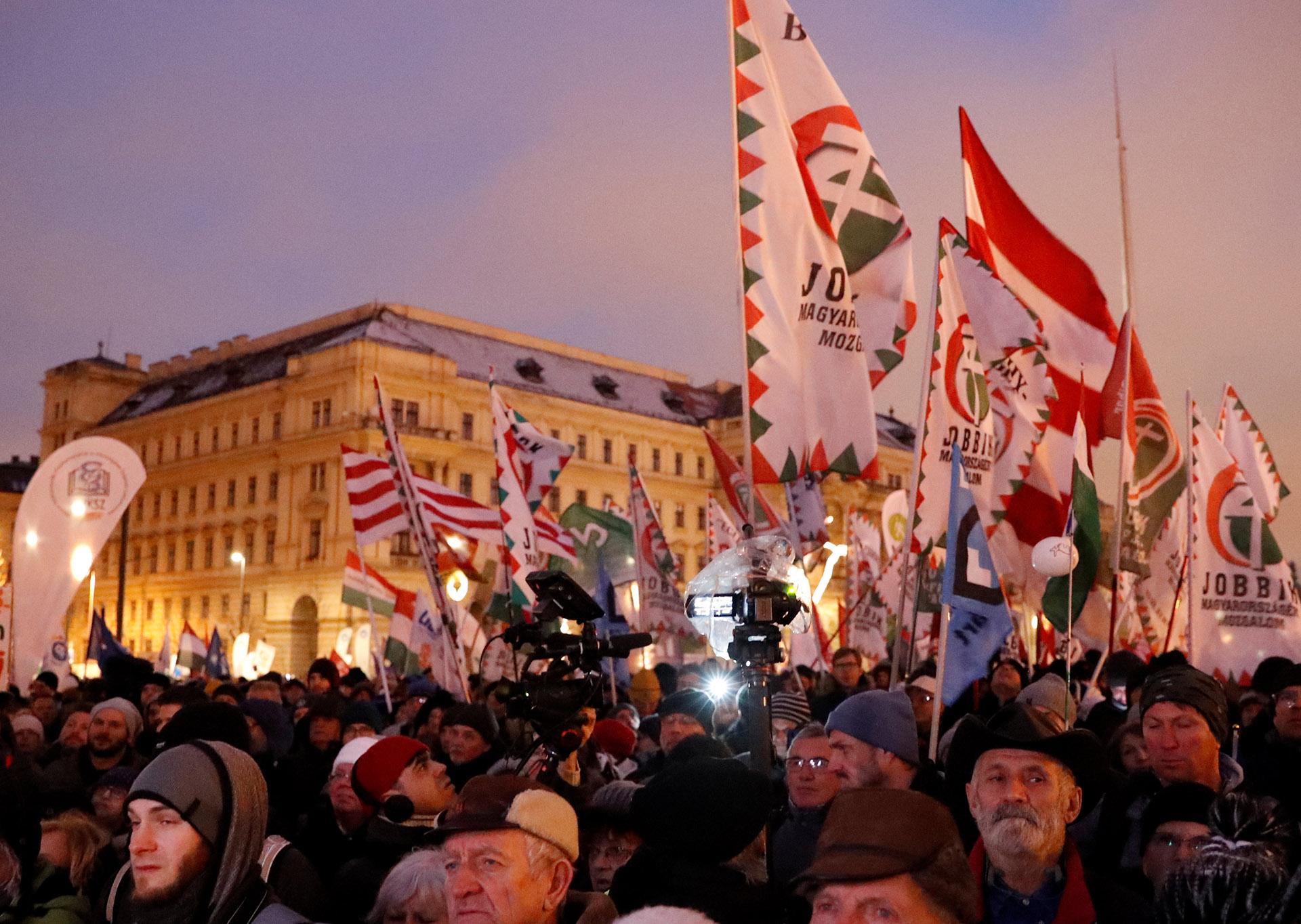 Manifestación en Budapest contra el gobierno de Ordan (Reuters)