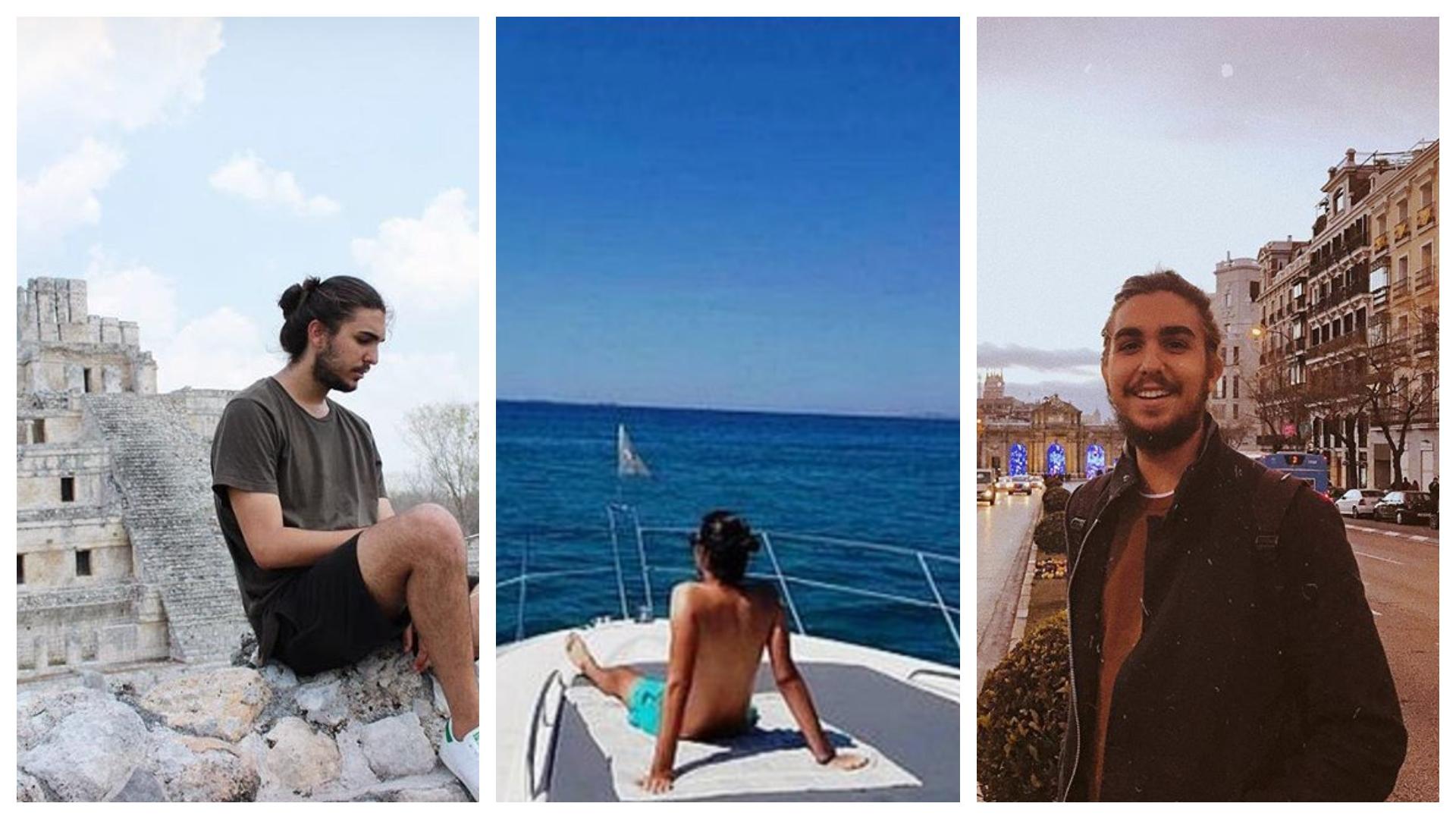 EL joven de 20 años alardea de sus viajes en sus redes sociales (Fotos: Instagram @tonycastro.u)