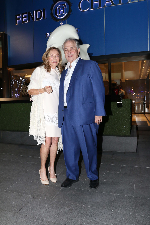 Kuky y Sergio Grosskopf, los anfitriones del evento de Fendi Château Punta del Este, un emprendimiento inmobiliario ubicado en la Parada 16.5 de Playa Mansa