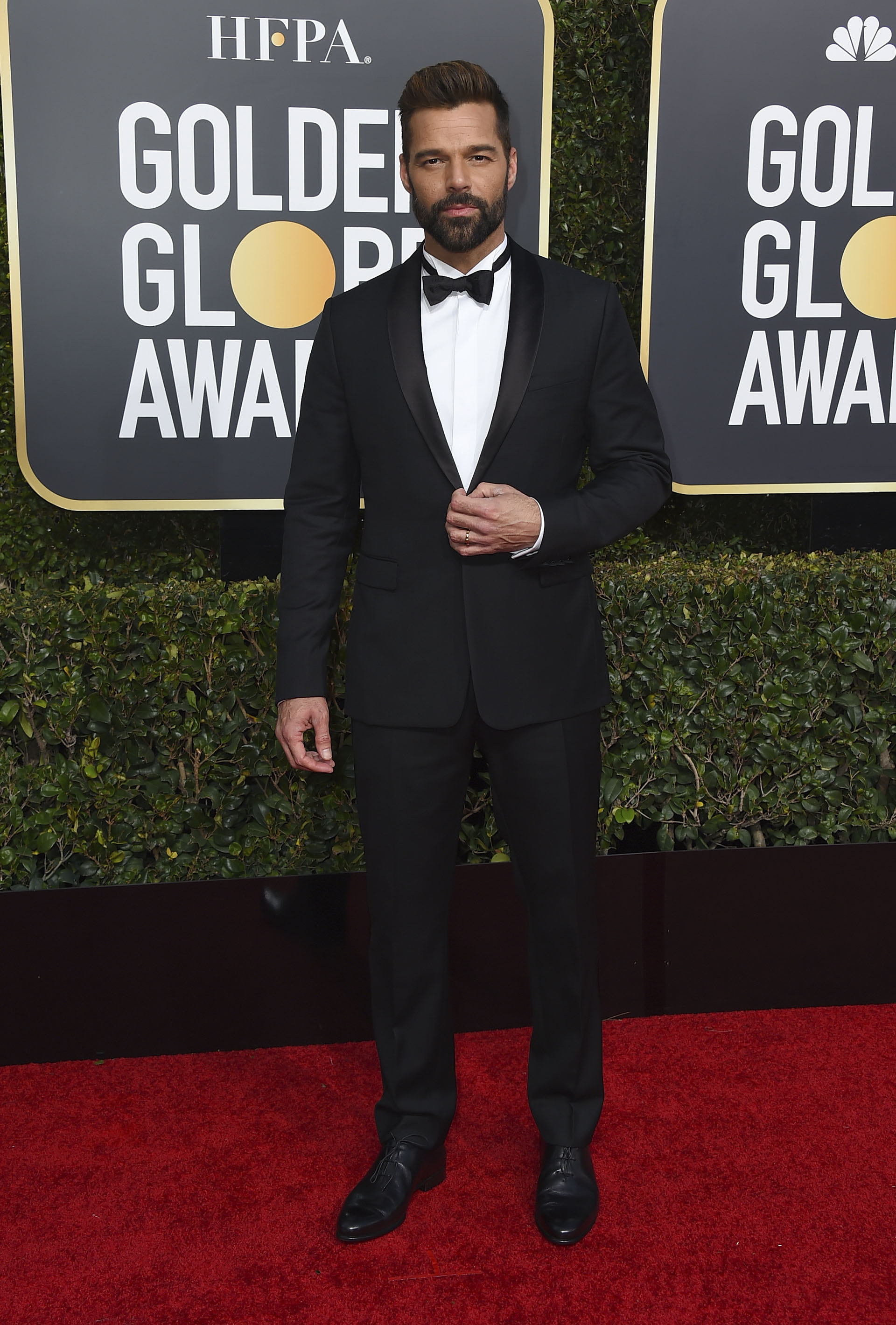 Ricky Martin arrives at the 76th annual Golden Globe Awards at the Beverly Hilton Hotel on Sunday, Jan. 6, 2019, in Beverly Hills, Calif. (Photo by Jordan Strauss/Invision/AP)