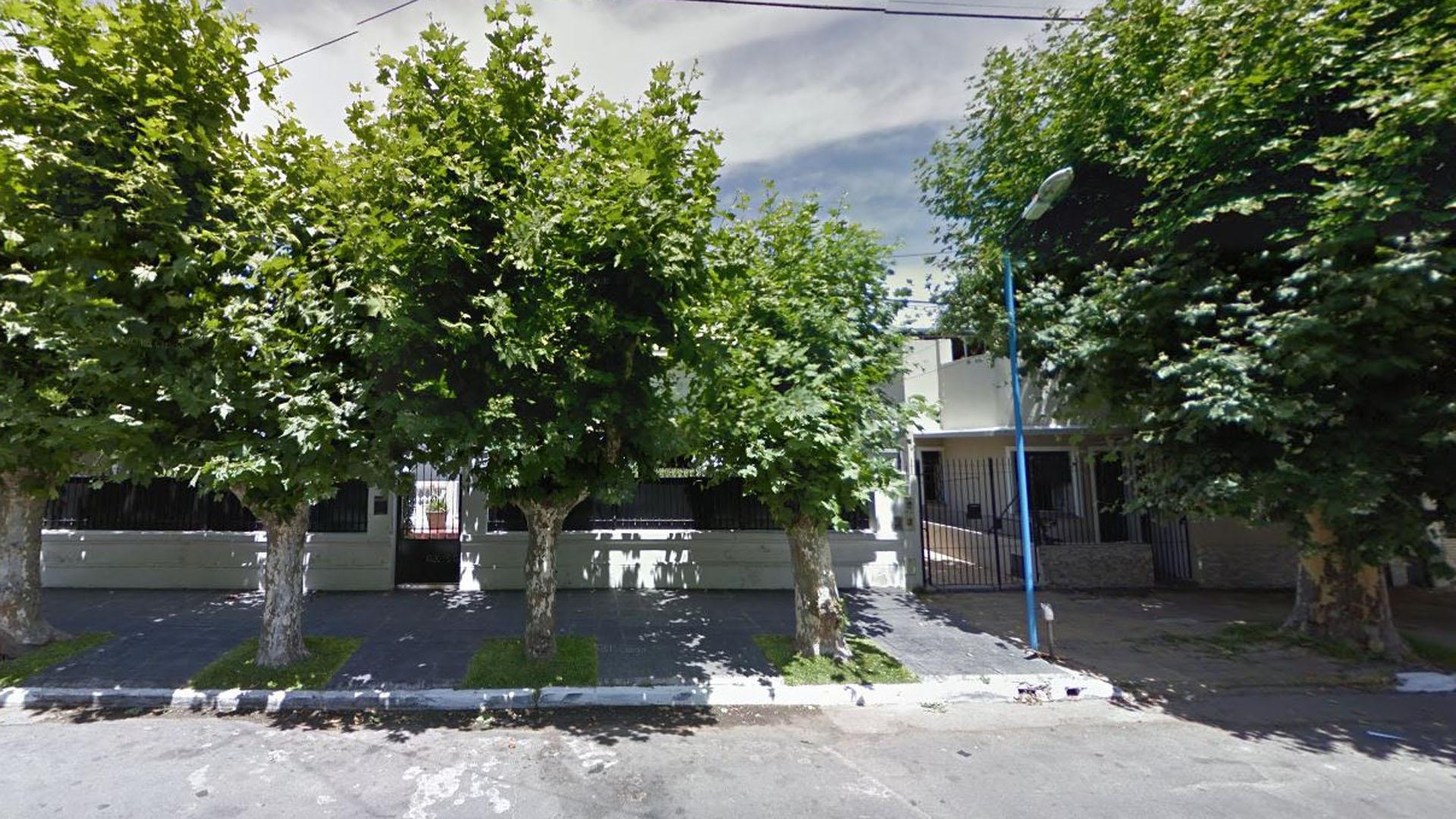 La casa de la calle Avellaneda donde ocurrió el hecho.