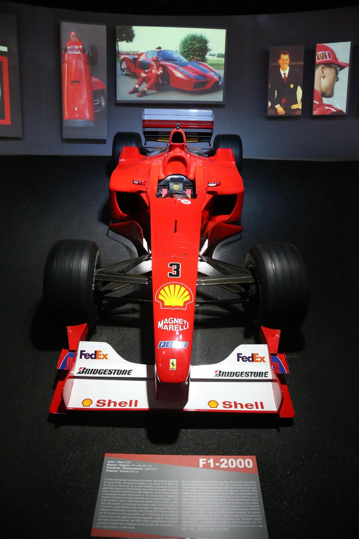 Ferrari inauguró para una exposición dedicada a Michael Schumacher en su museo de Maranello, en el norte de Italia