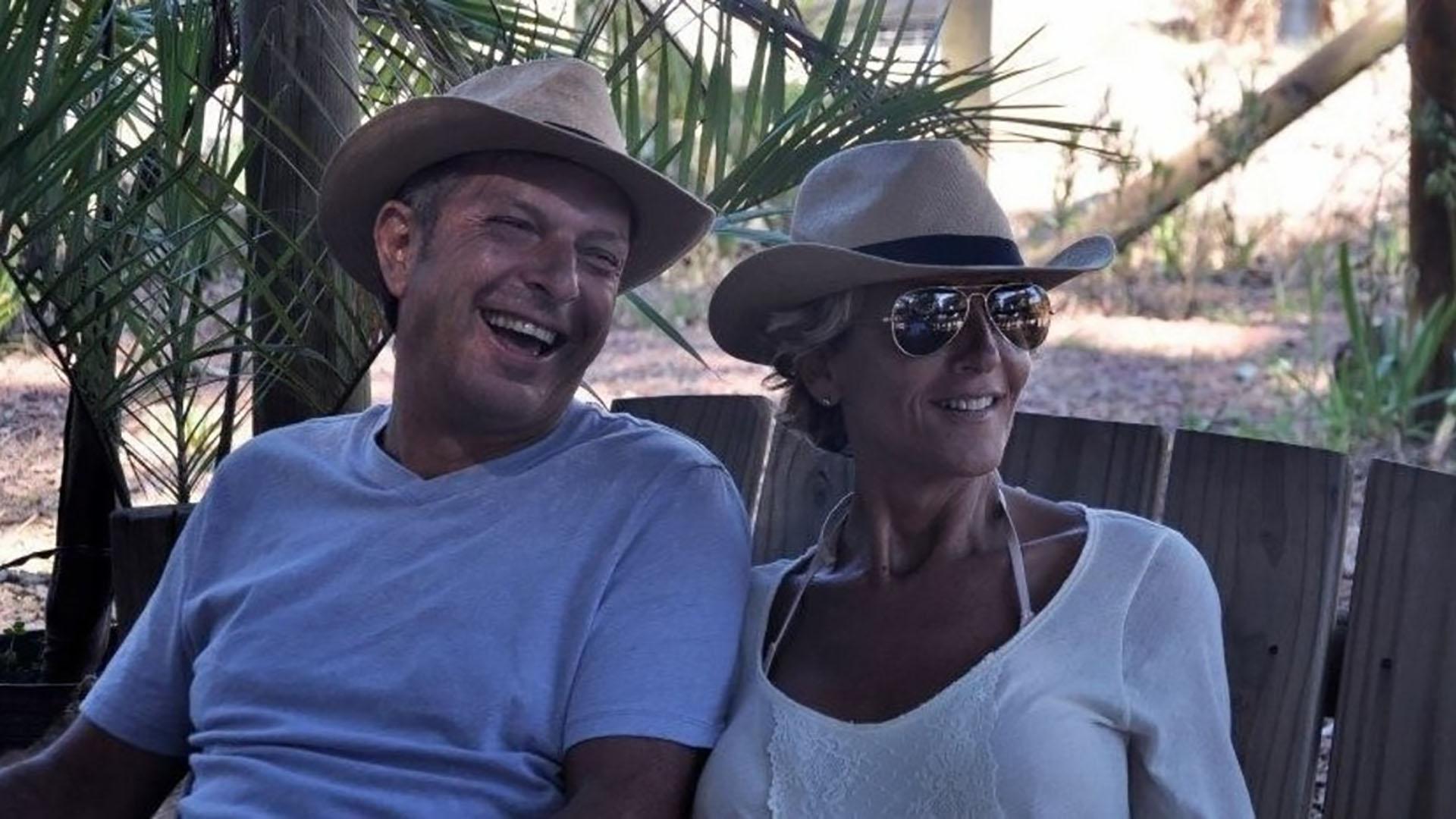 El empresario junto a su esposa