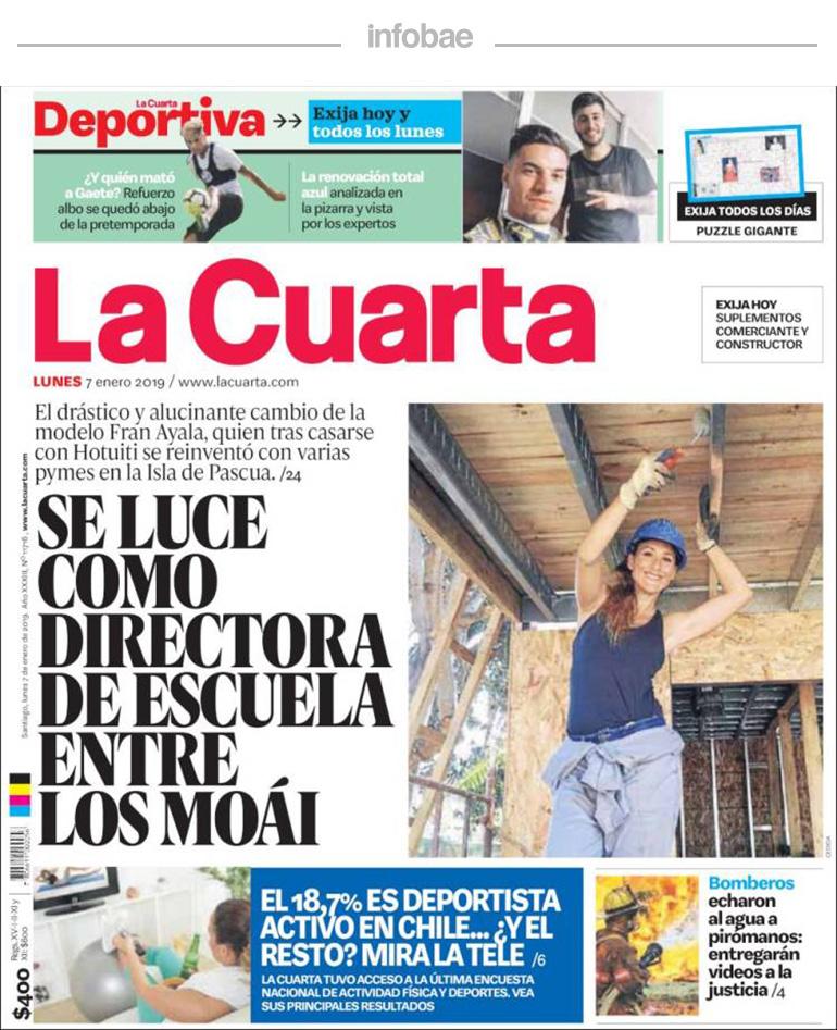 La Cuarta, Chile, 8 de enero de 2019 | FM Laser 103.5 - Tucumán
