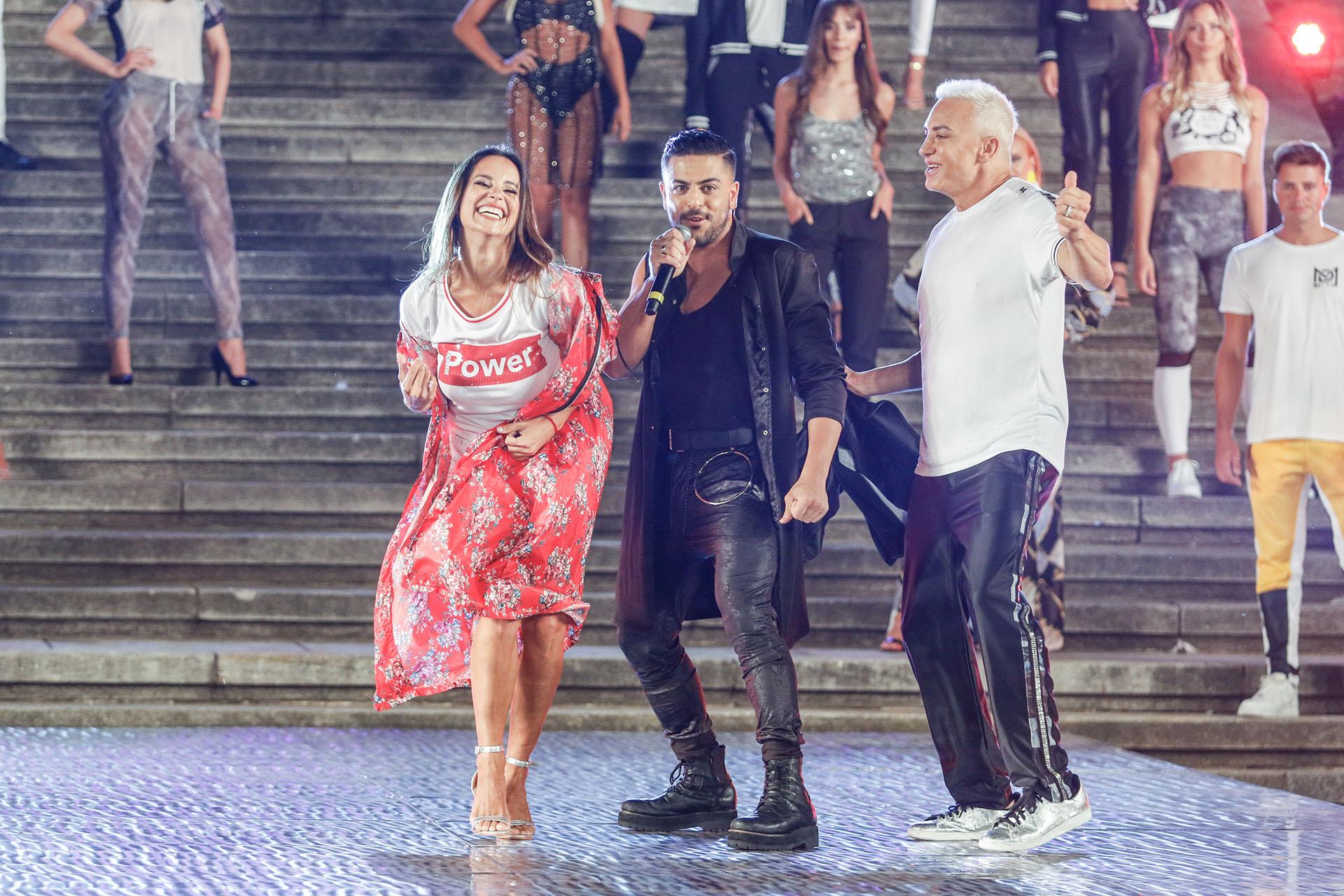 Flavio Mendoza y Facundo Mazzei cantaron en el show