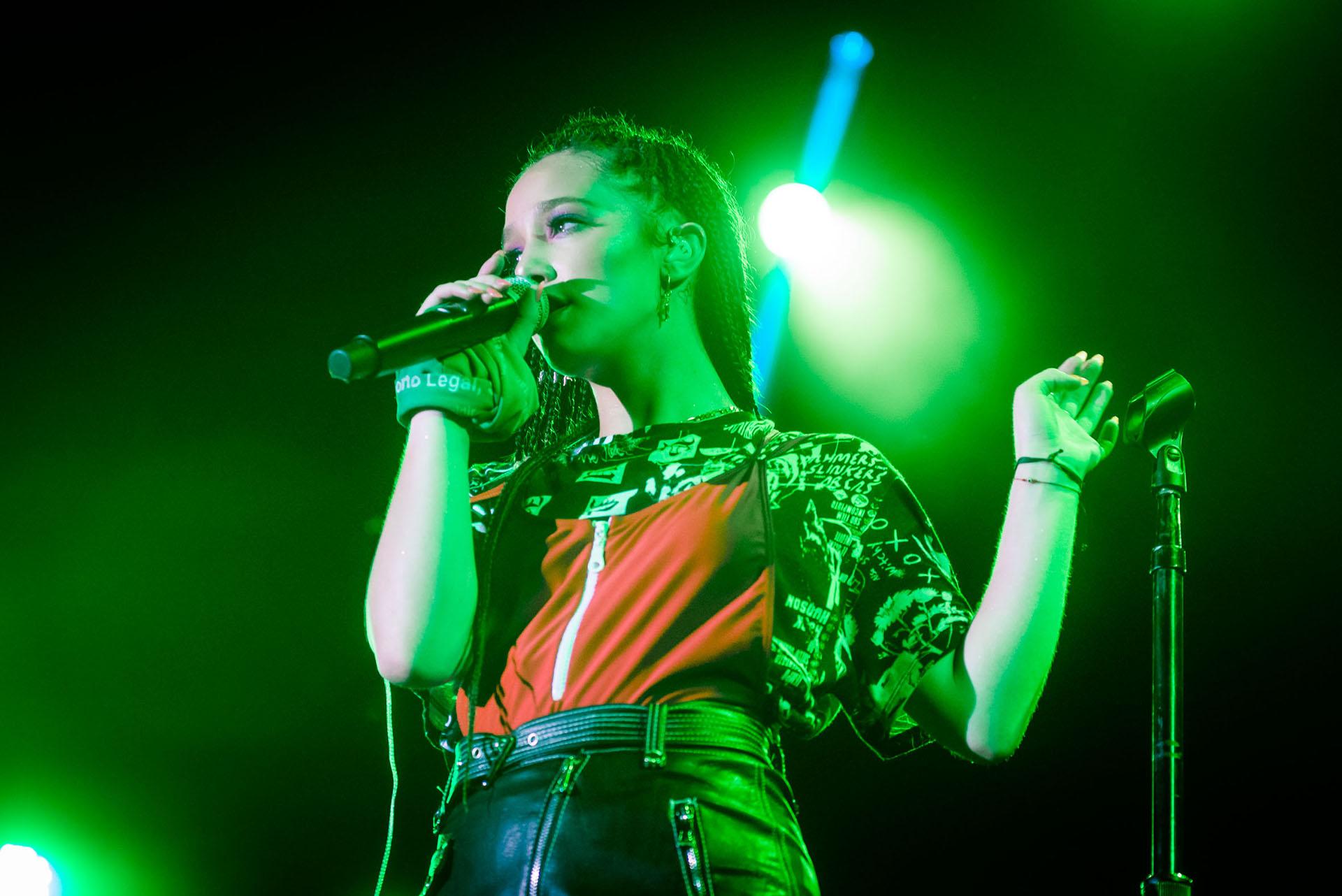 Ángela Torres es la cantante juvenil del momento. Tuvo la oportunidad de dar un espectacular concierto en Parque Camet
