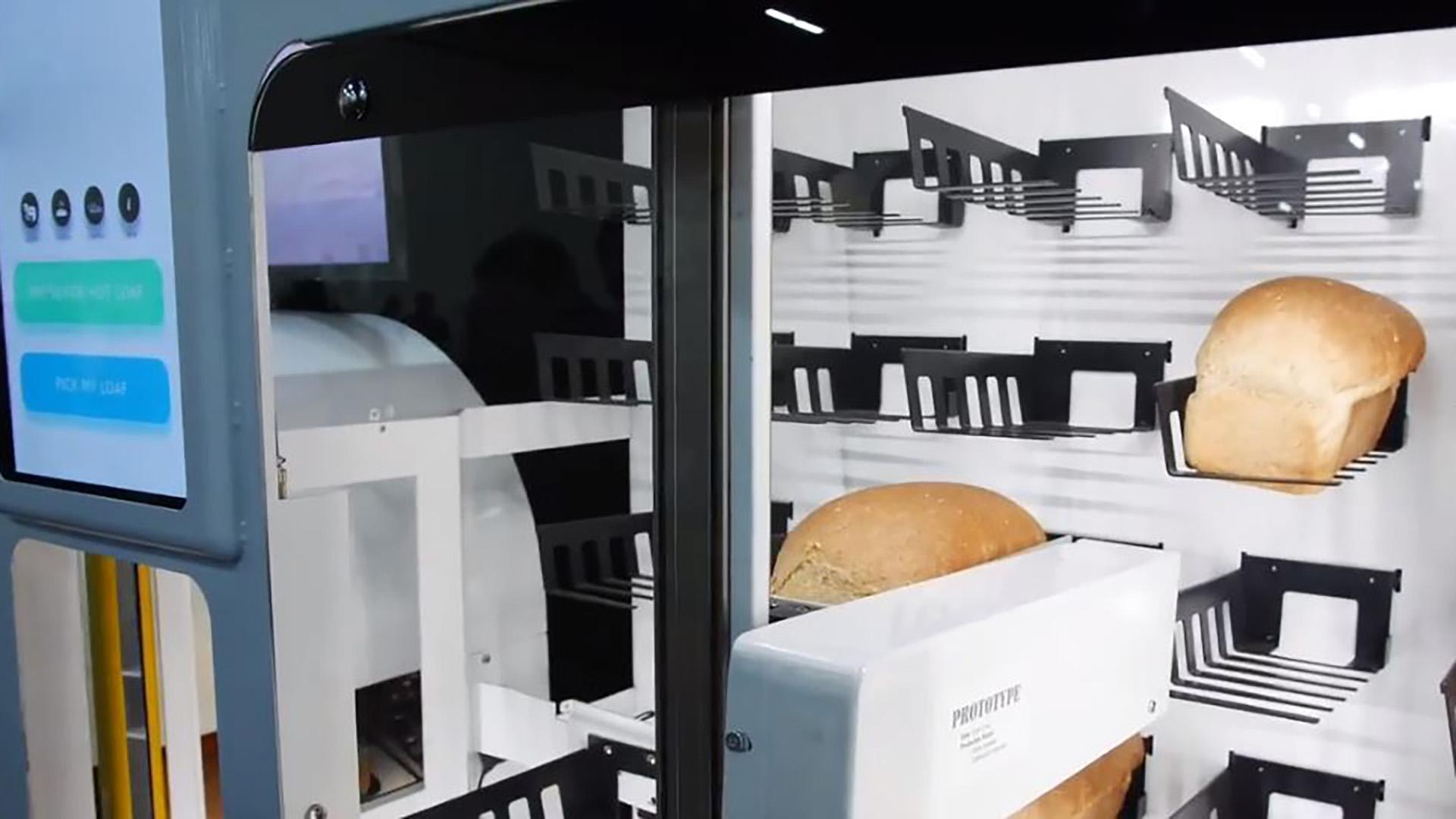 BreadBot, el robot panadero que sorprendió en la feria de tecnología en Las Vegas.