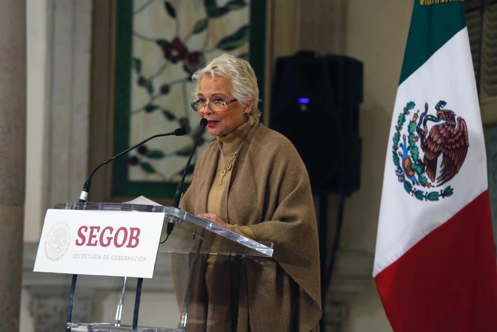 La secretaria de Gobernación, Olga Sánchez Cordero, informó que en diciembre revisaron 368 casos de persona encarceladas de manera injusta. (Foto: Secretaría de Gobernación)
