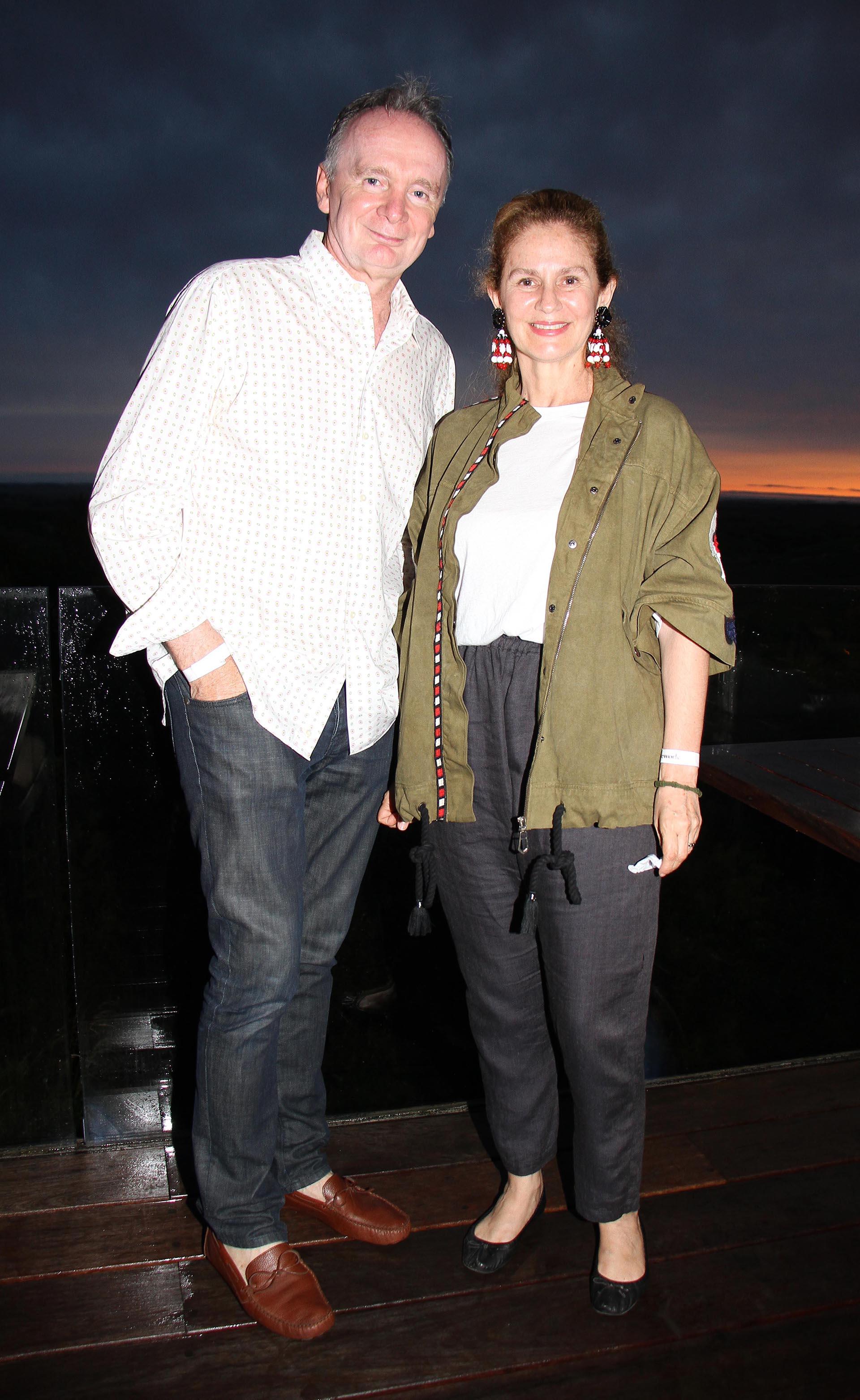 Santiago Anchorena y su mujer Martina