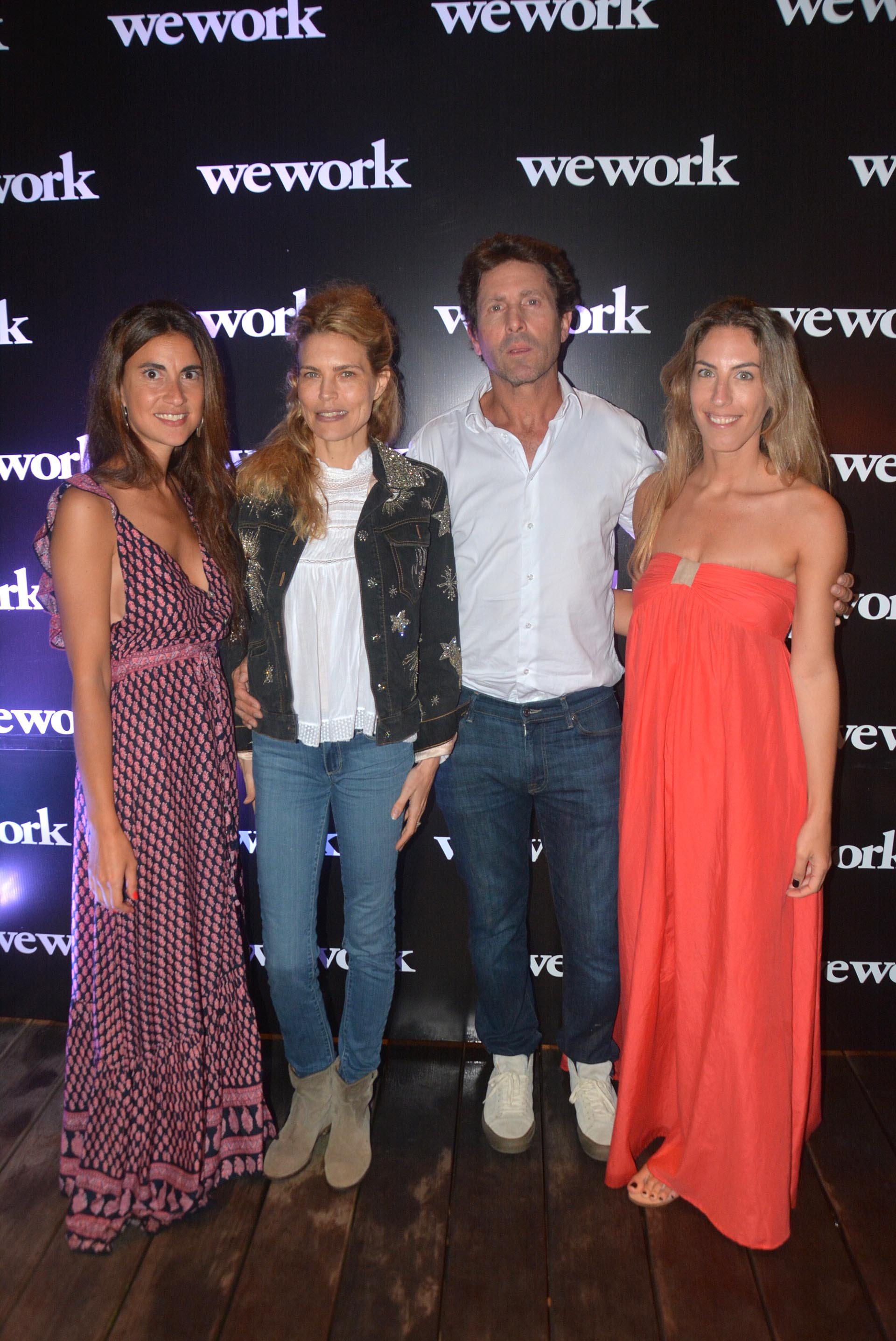 Agustina Maljkovic, Marketing WeWork Argentina & Chile; Julieta Kemble y su marido Justo Saavedra, y Mariela Packer, Sales Manager Argentina & Chile