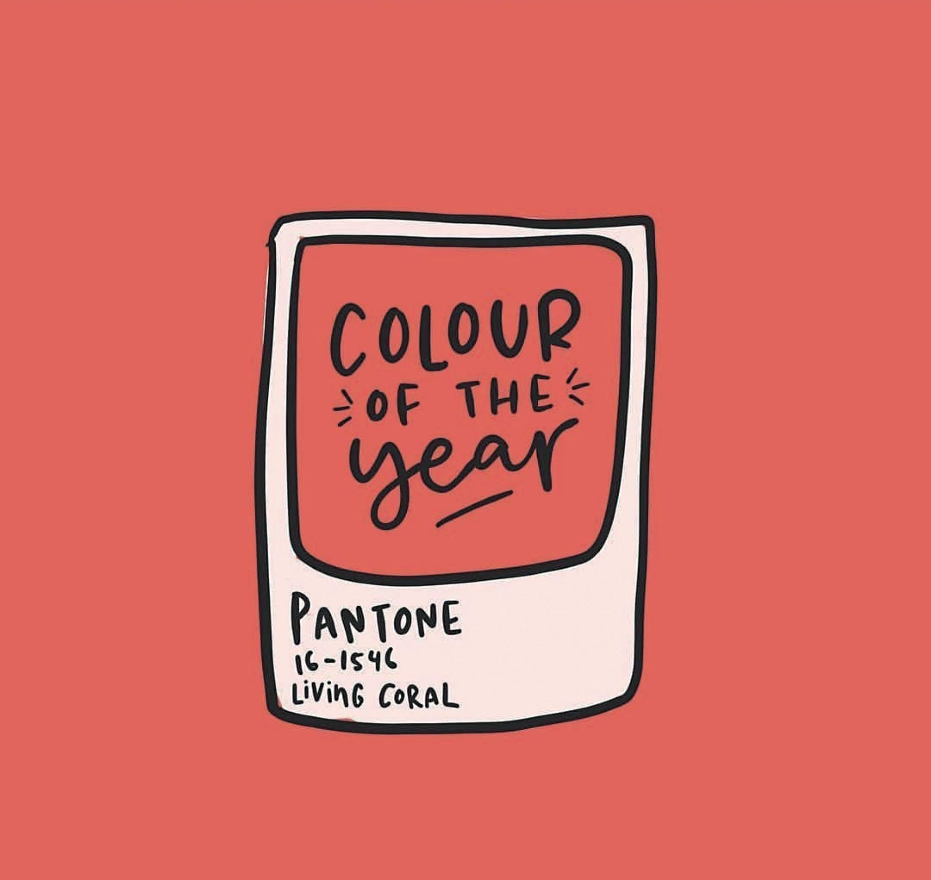 Coral, el color del año.